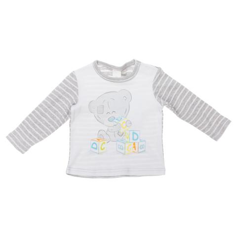 Футболка с длинным рукавом для мальчика Me To You. 667801667801Стильная футболка с длинным рукавом для мальчика PlayToday Baby Me To You станет отличным дополнением к детскому гардеробу. Модель, выполненная из натурального хлопка, очень мягкая и приятная на ощупь, не сковывает движения и позволяет коже дышать, обеспечивая наибольший комфорт. Футболка с круглым вырезом горловины и длинными рукавами застегивается на кнопки по плечевому шву, что помогает с легкостью переодеть ребенка. Спинка и рукава модели выполнены в полоску. На груди изделие украшено принтом в виде мишки Тедди, играющего с кубиками. Дизайн и расцветка делают эту футболку модным предметом детской одежды. В ней ваш ребенок всегда будет в центре внимания!