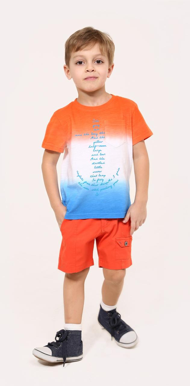 ШортыSS16-CRN-BSH-065Стильные шорты для мальчика Gino de Luka идеально подойдут юному моднику для отдыха и прогулок. Изготовленные из эластичного хлопка, они мягкие и приятные на ощупь, не сковывают движения и позволяют коже дышать, обеспечивая наибольший комфорт. Модель на талии застегивается на металлическую пуговицу и имеет ширинку на застежке-молнии, а также шлевки для ремня. С внутренней стороны пояс регулируется скрытой резинкой на пуговицах. Спереди расположены два втачных кармана и один накладной с клапаном на пуговице, сзади - два прорезных кармана. Современный дизайн и расцветка делают эти шорты модным предметом детской одежды. В них ребенок всегда будет в центре внимания!