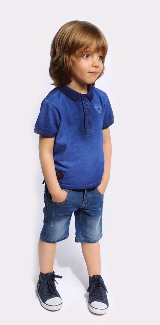 Футболка-поло для мальчика. SS16-CFU-BTS-090SS16-CFU-BTS-090Футболка-поло для мальчика Gino de Luka идеально подойдет вашему ребенку. Изготовленная из натурального хлопка, она мягкая и приятная на ощупь, не сковывает движения и позволяет коже дышать, обеспечивая наибольший комфорт. Футболка-поло с отложным воротничком и короткими рукавами застегивается сверху на три пуговицы. Воротник и края рукавов выполнены из трикотажной резинки. По бокам модели предусмотрены небольшие разрезы. Изделие украшено нашивками. Яркий дизайн, актуальная цветовая гамма и интересный декор делают эту футболку стильным и модным предметом детской одежды. В ней ваш маленький мужчина всегда будет в центре внимания!
