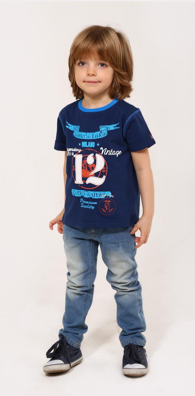 Джинсы для мальчика. SS16-CRN-BJN-063SS16-CRN-BJN-063Стильные джинсы для мальчика Gino de Luka идеально подойдут юному моднику. Изготовленные из эластичного хлопка, они мягкие и приятные на ощупь, не сковывают движения и позволяют коже дышать, обеспечивая наибольший комфорт. Джинсы прямого кроя на талии застегиваются на металлическую пуговицу и имеют ширинку на застежке- молнии, а также шлевки для ремня. При необходимости пояс можно утянуть скрытой резинкой на пуговках. Спереди расположены два втачных кармана и один маленький накладной, сзади - два накладных кармана. Изделие оформлено контрастной прострочкой и эффектом потертости. Современный дизайн и расцветка делают эти джинсы модным и удобным предметом детского гардероба. В них ребенок всегда будет в центре внимания!