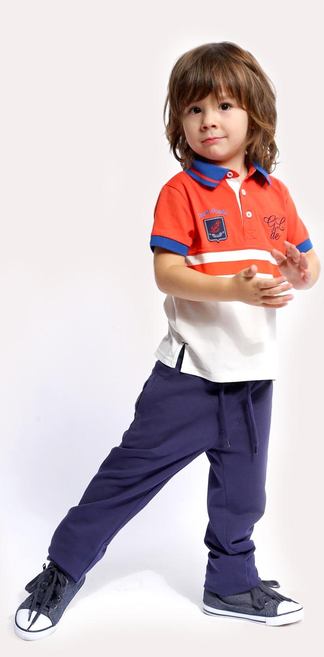 Брюки для мальчика. SS16-CJS-BSP-072SS16-CJS-BSP-072Удобные брюки для мальчика Gino de Luka идеально подойдут вашему ребенку для отдыха и прогулок. Изготовленные из натурального хлопка, они мягкие и приятные на ощупь, не сковывают движения и хорошо пропускают воздух. Лицевая сторона изделия гладкая, изнаночная - с небольшими петельками. Брюки прямого кроя на талии имеют широкую трикотажную резинку, регулируемую шнурком. Спереди расположены два втачных кармана, сзади - один прорезной. Брюки станут отличным дополнением к детскому гардеробу, в них ребенку будет удобно и комфортно.