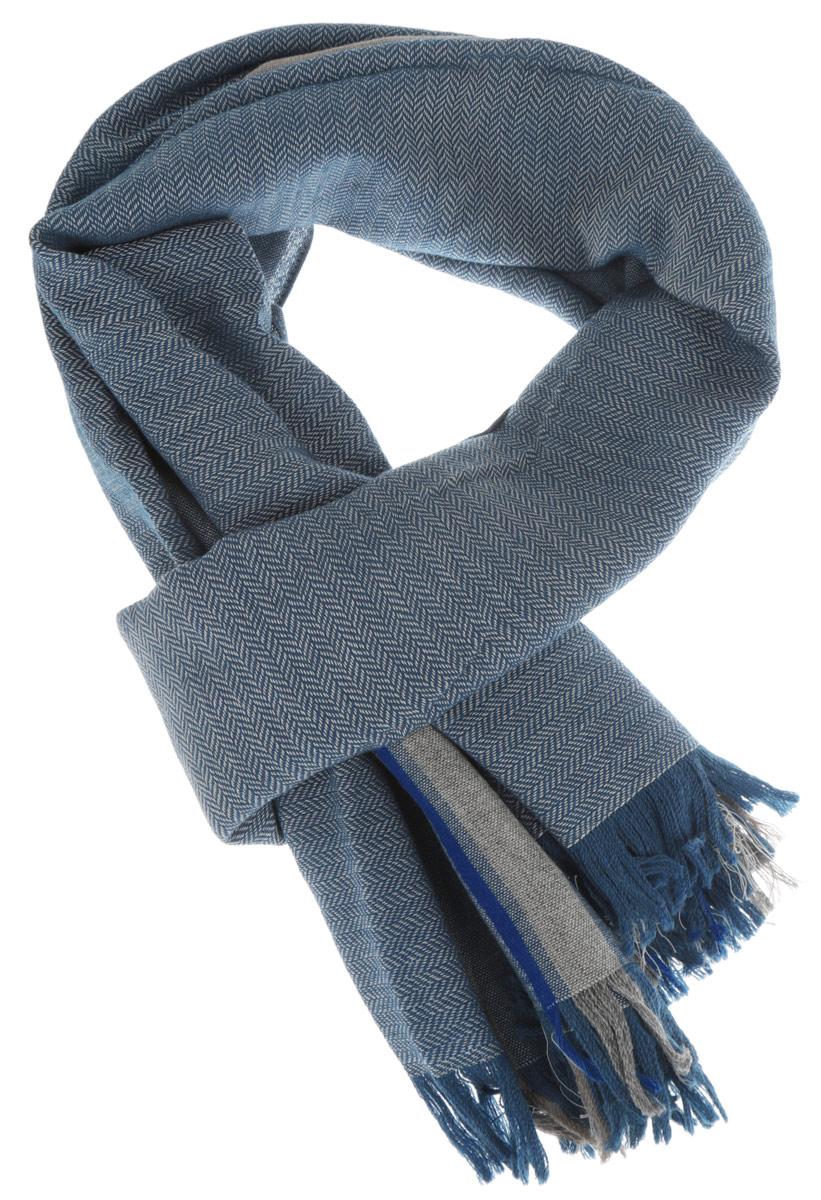 Шарф мужской. K50K501023K50K501023Элегантный мужской шарф Calvin Klein согреет вас в холодное время года, а также станет изысканным аксессуаром, который призван подчеркнуть ваш стиль и индивидуальность. Оригинальный шарф выполнен из высококачественного материала, оформлен полосками различной ширины и украшен бахромой по краям. Такой шарф станет превосходным дополнением к любому наряду и защитит вас от ветра и холода.