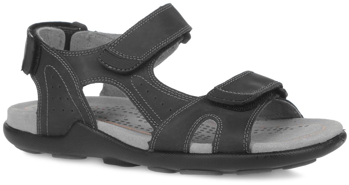 Сандалии для мальчика. 34037-234037-2Модные сандалии от Kapika придутся по душе вашему мальчику! Модель изготовлена из натуральной кожи и оформлена декоративной прострочкой. Ремешки с застежками-липучками прочно зафиксируют обувь на ноге и отрегулируют нужный объем. Внутренняя поверхность и стелька из натуральной кожи комфортны при движении. Подошва с протектором обеспечивает отличное сцепление с поверхностью. Практичные и стильные сандалии займут достойное место в гардеробе вашего мальчика.
