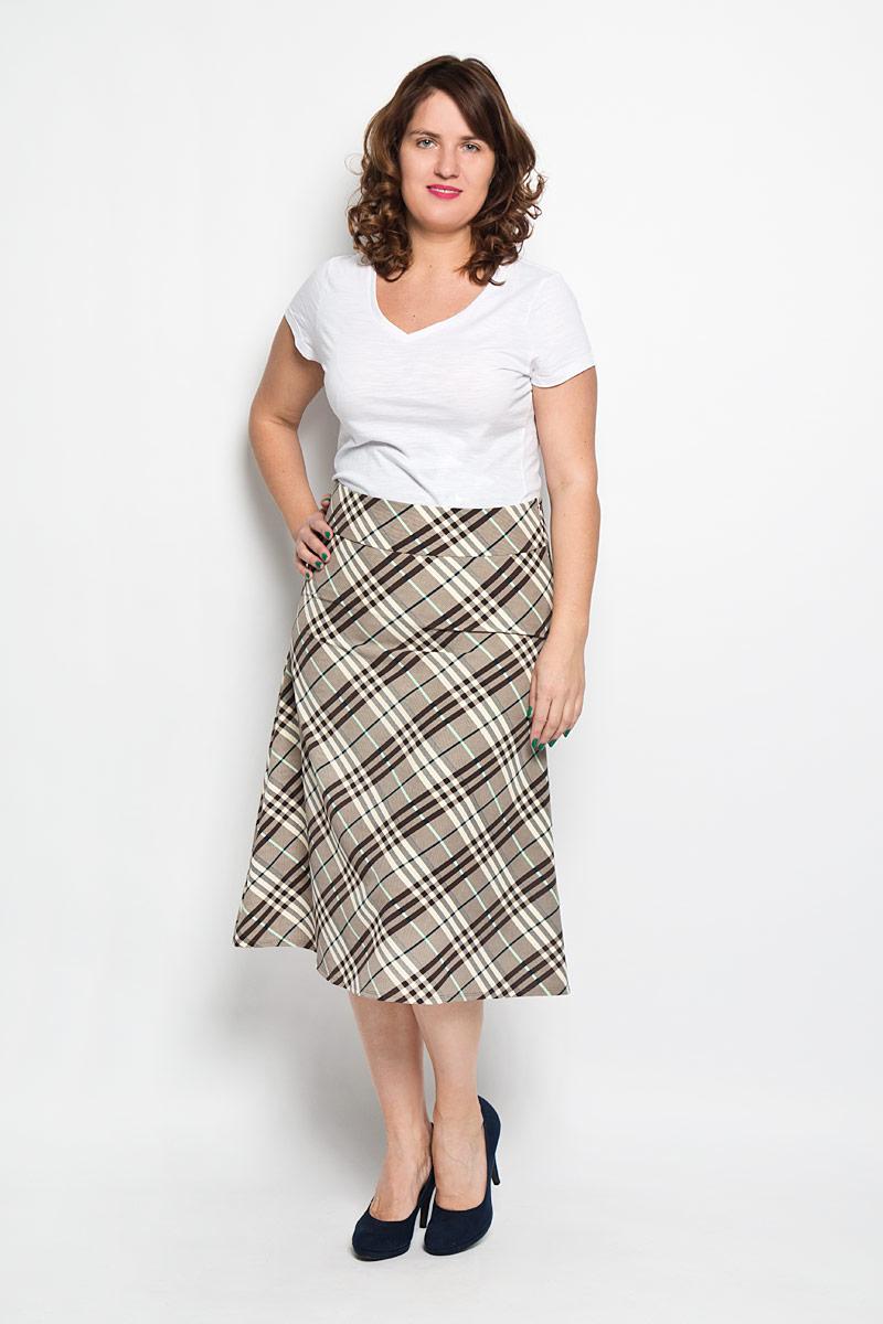 Юбка. 038038Эффектная юбка Milana Style выполнена из высококачественного комбинированного материала, она обеспечит вам комфорт и удобство при носке. Модель застегивается на потайную застежку-молнию сбоку. Юбка-миди дополнена пришивным поясом и украшена актуальным принтом в крупную клетку. Модная юбка-миди выгодно освежит и разнообразит ваш гардероб. Создайте женственный образ и подчеркните свою яркую индивидуальность! Классический фасон и оригинальное оформление этой юбки сделают ваш образ непревзойденным.
