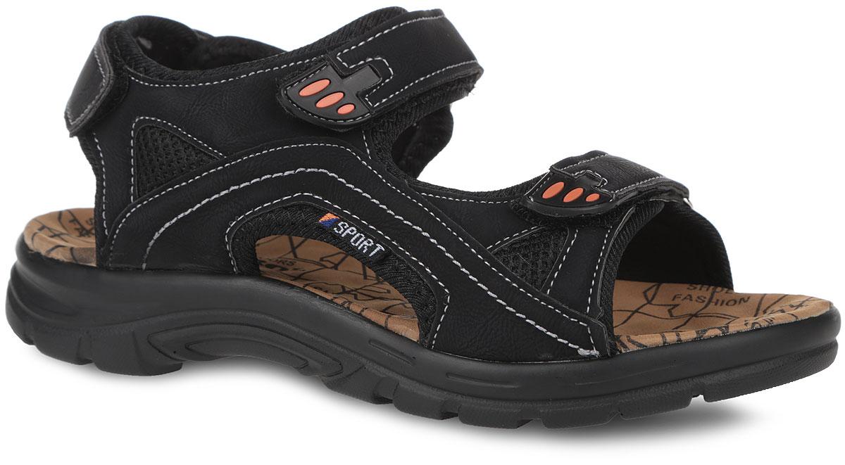 Сандалии. 735-111T-16s-01/8735-111T-16s-01/8-1Оригинальные сандалии от Patrol займут достойное место в вашем гардеробе. Модель выполнена из комбинации искусственной кожи и текстиля. Ремешок в области пятки и два ремешка на подъеме с застежками-липучками прочно закрепят обувь на ноге. Подкладка, изготовленная из текстиля, гарантирует дополнительный комфорт и предотвращает натирание. Стелька из текстиля оснащена рельефной поверхностью и оформлена принтом. Ремешки дополнены вставками из ПВХ. Подошва оснащена рифлением для лучшего сцепления с поверхностью. Модные сандалии заинтересуют вас с первого взгляда.
