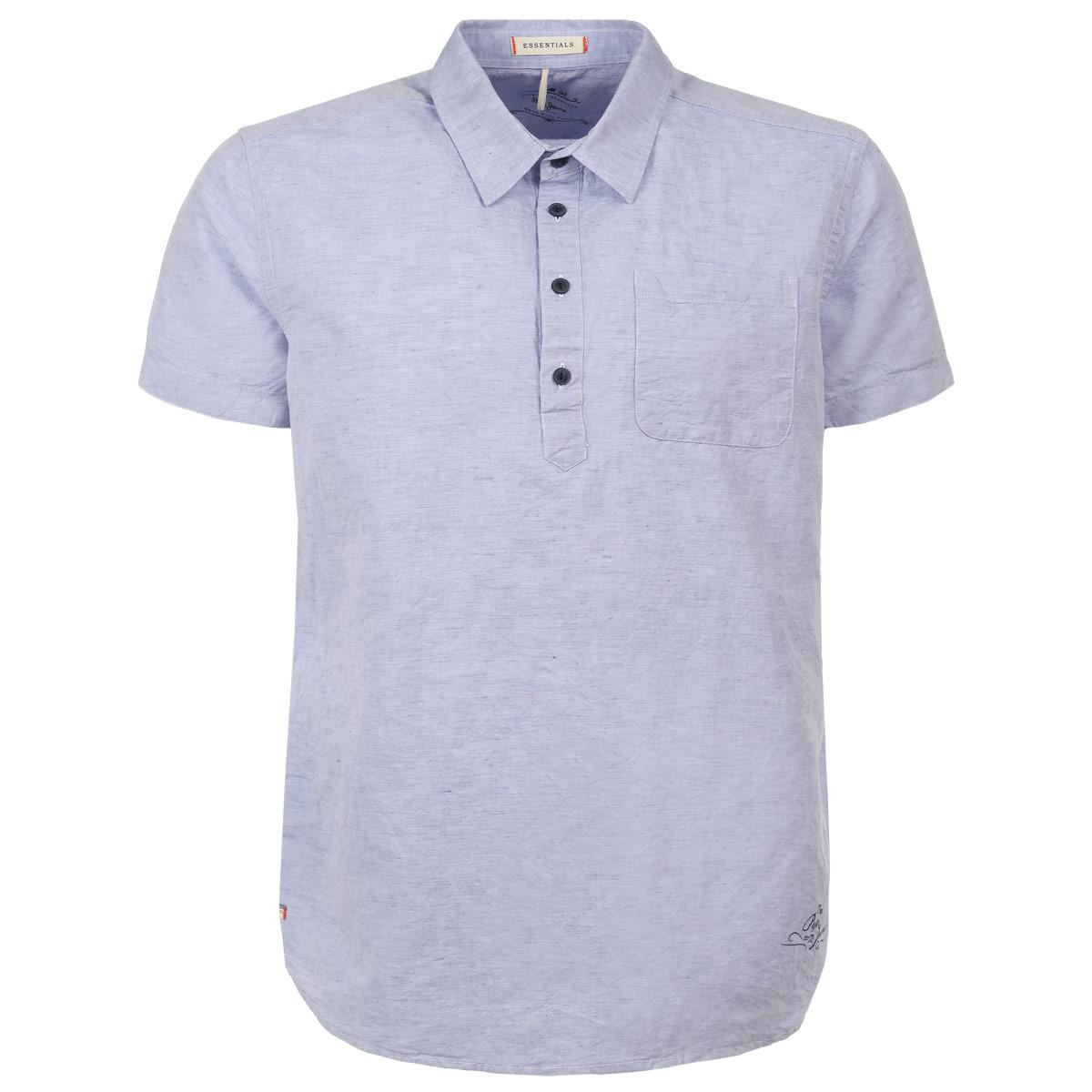 Рубашка-поло мужская. PM301555PM301555 501Стильная мужская рубашка-поло Pepe Jeans, выполненная из хлопка с добавлением льна, обладает высокой теплопроводностью, воздухопроницаемостью и гигроскопичностью, позволяет коже дышать, тем самым обеспечивая наибольший комфорт при носке даже самым жарким летом. Модель с короткими рукавами, отложным воротником и полукруглым низом застегивается сверху на четыре пуговицы. На груди изделие дополнено накладным карманом. Такая рубашка будет дарить вам комфорт в течение всего дня и послужит замечательным дополнением к вашему гардеробу.