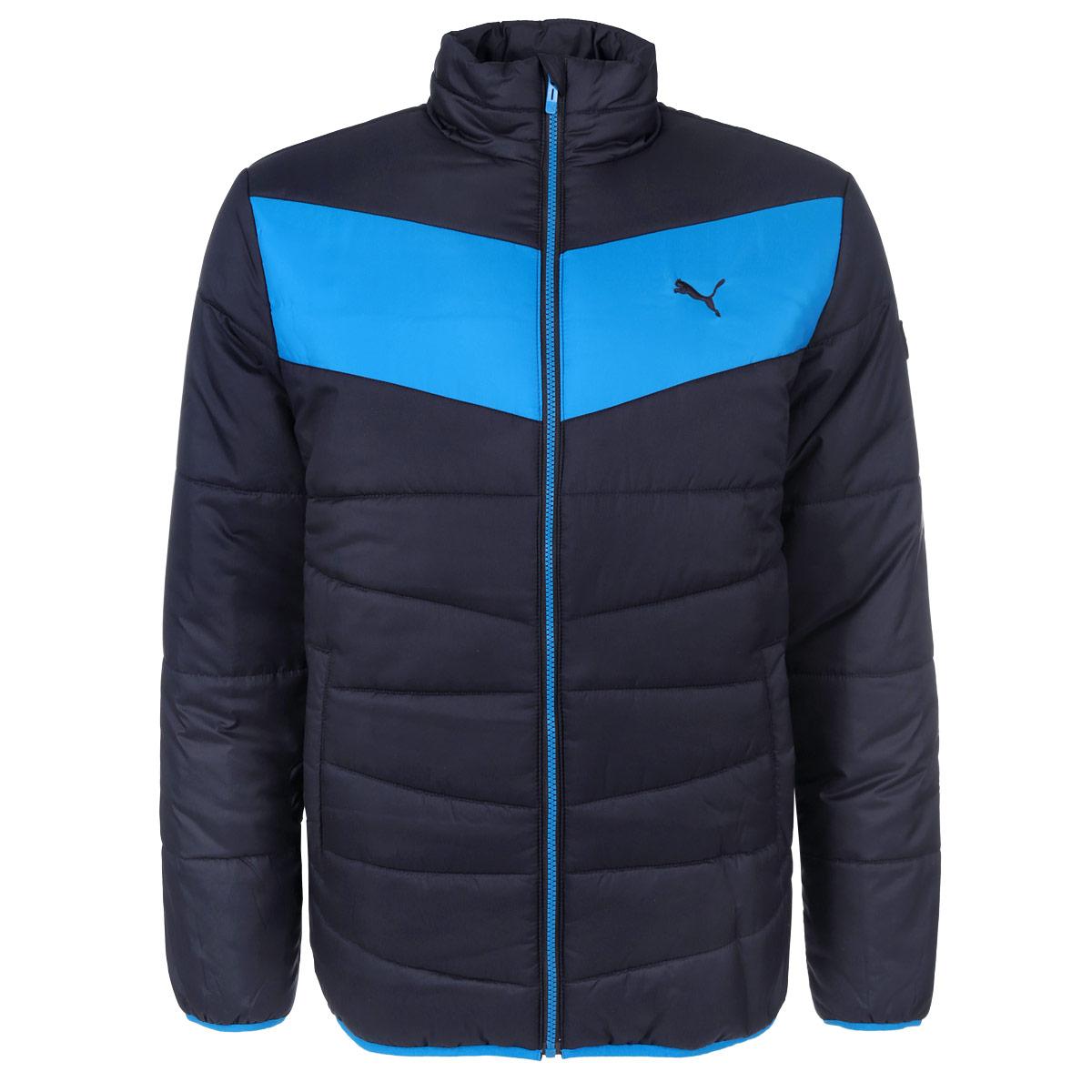 Куртка мужская ESS Padded83380608Стильная мужская куртка Puma ESS Padded отлично подойдет для прохладной погоды. Модель прямого кроя с длинными рукавами и воротником-стойкой выполнена из высококачественного материала и застегивается на застежку-молнию. Изделие дополнено двумя втачными карманами спереди, и одним тайным карманом, расположенным на изнаночной стороне. Манжеты рукавов и низ куртки оснащены узкими эластичными резинками. Эта модная и в то же время комфортная куртка - отличный вариант для уверенного в себе мужчины!
