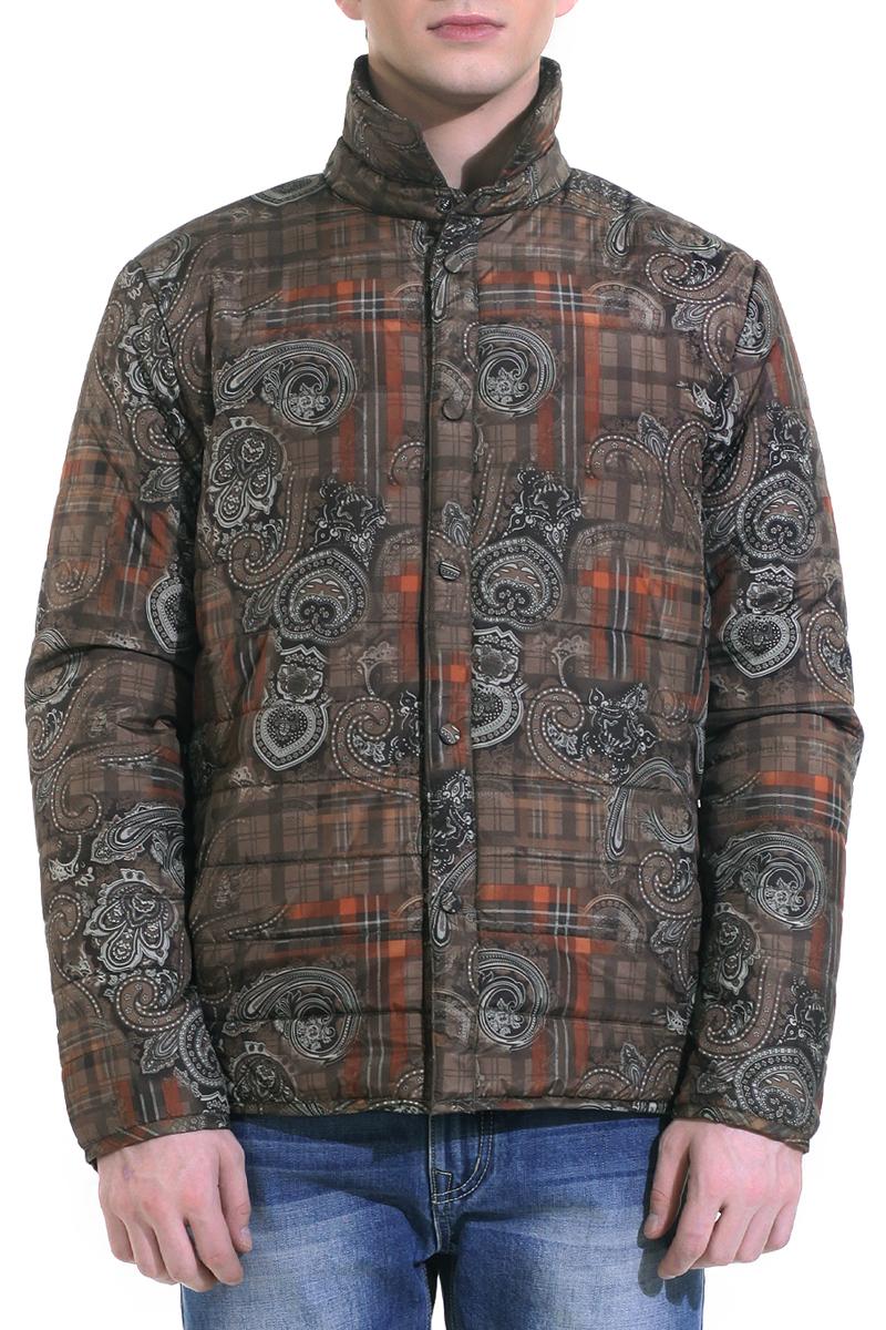 КурткаB535014Стильная мужская стеганая куртка Baon, выполненная из высококачественного материала, рассчитана на прохладную погоду. Куртка с утеплителем из синтепона подарит вам максимальный комфорт. Модель с отложным воротником застегивается на кнопки. Манжеты также застегиваются на кнопки. Куртка дополнена двумя боковыми втачными карманами на кнопках и тремя потайными карманами, расположенными на изнаночной стороне. В этой куртке вам будет комфортно. Модная фактура ткани, отличное качество, великолепный дизайн.