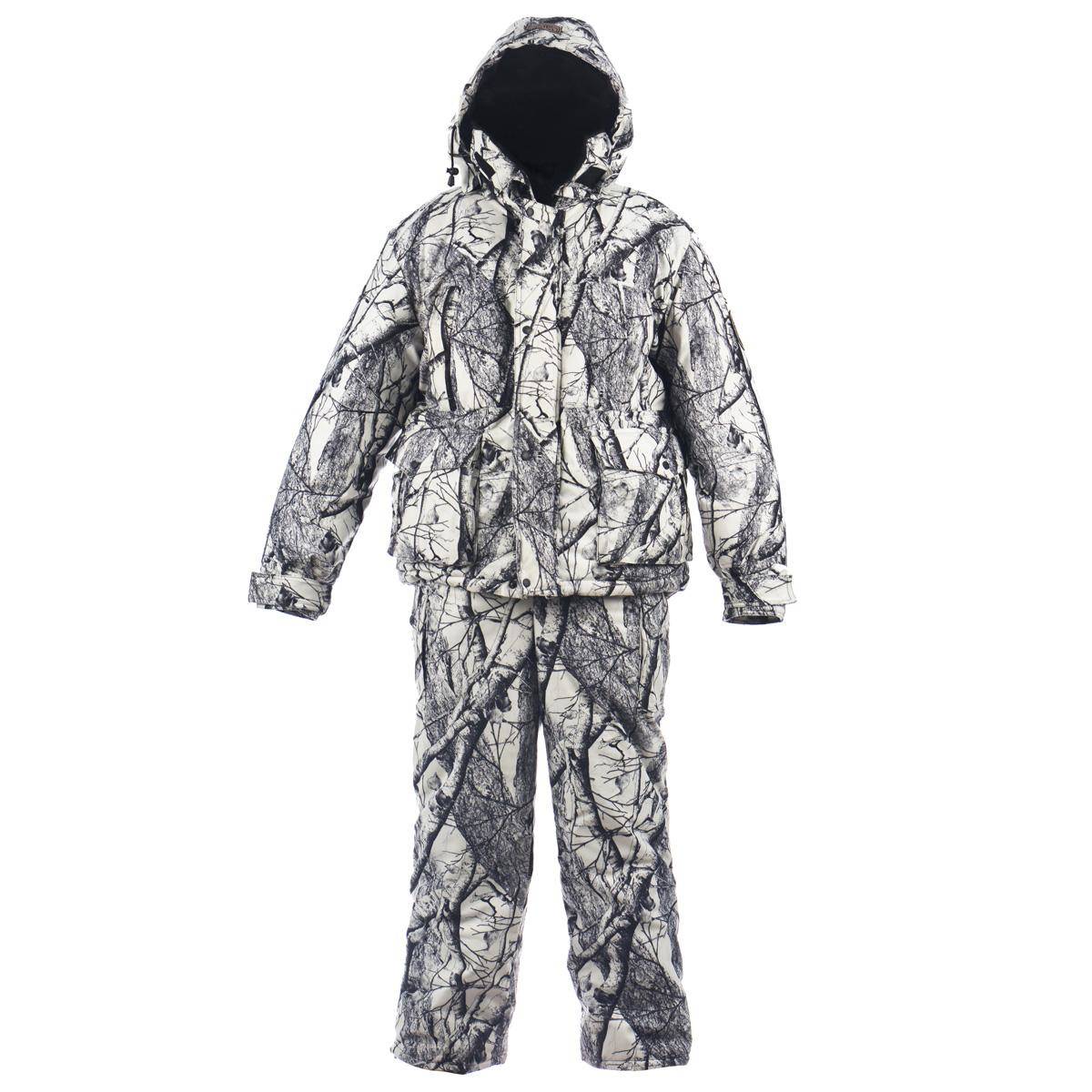 Буран-М_мембранаТеплый зимний мужской комплект Huntsman Буран-М, состоящий из куртки и полукомбинезона, предназначен для рыбалки, охоты и активного отдыха на природе. Верхний материал не продувается ветром, не промокает под сильным дождем, не теряет своих свойств при низких температурах (до -30°С) и не шуршит. Верхний материал: смесовая ткань, Oxford, Alova. Подкладка - Taffeta 190T, Polar Fleece, искусственный мутон. Ткань Alova с мембранным покрытием (100% полиэстер) препятствует проникновению ветра, отталкивает жидкость от поверхности, замедляет потери тепла, пропускает испарения тела. Смесовая ткань - обладает водоотталкивающими свойствами, дышит и не шуршит. Изготовленные по уникальной технологии, смесовые ткани соединяют в себе отличные эксплуатационные и физико-химические свойства натуральных и синтетических волокон. В качестве утеплителя используется Radotex (Радотекс) (куртка - 450 г/м2, полукомбинезон - 300 г/м2), состоящий из полого высокоизвитого...