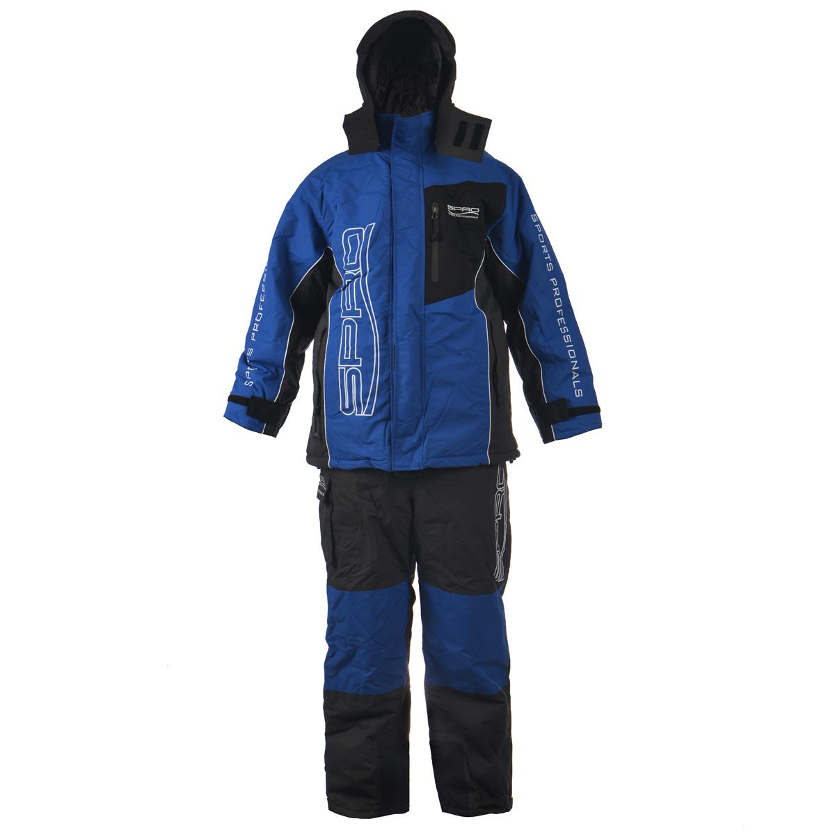 Комплект мужской: куртка, полукомбинезон. 06440840644084Теплый мужской комплект Spro, состоящий из куртки и полукомбинезона, предназначен для активного отдыха на природе в холодное время года. Материал верха Nylon Taslan 320; водонепроницаемость 5000 мм; паропроницаемость 5000 г/м2/сут; утеплитель куртки 180 г/м2; утеплитель полукомбинезона 160 г/м2. Куртка с капюшоном застегивается на пластиковую застежку-молнию с двойным бегунком и дополнительно имеет две внешних планки, застегивающихся на липучки. Предусмотрен капюшон, пристегивающийся с помощью застежек-кнопок и дополненный эластичным шнурком на стопперах. Капюшон фиксируется под подбородком клапаном на липучки. Для большего комфорта основная подкладка выполнена из мягкого и теплого флиса. Рукава дополнены внутренними эластичными манжетами с хлястиками на липучках, а также внешними хлястиками на липучках, с помощью которых можно регулировать обхват рукавов понизу. На груди предусмотрен вместительный прорезной карман на застежке-молнии, также спереди имеется еще один прорезной...