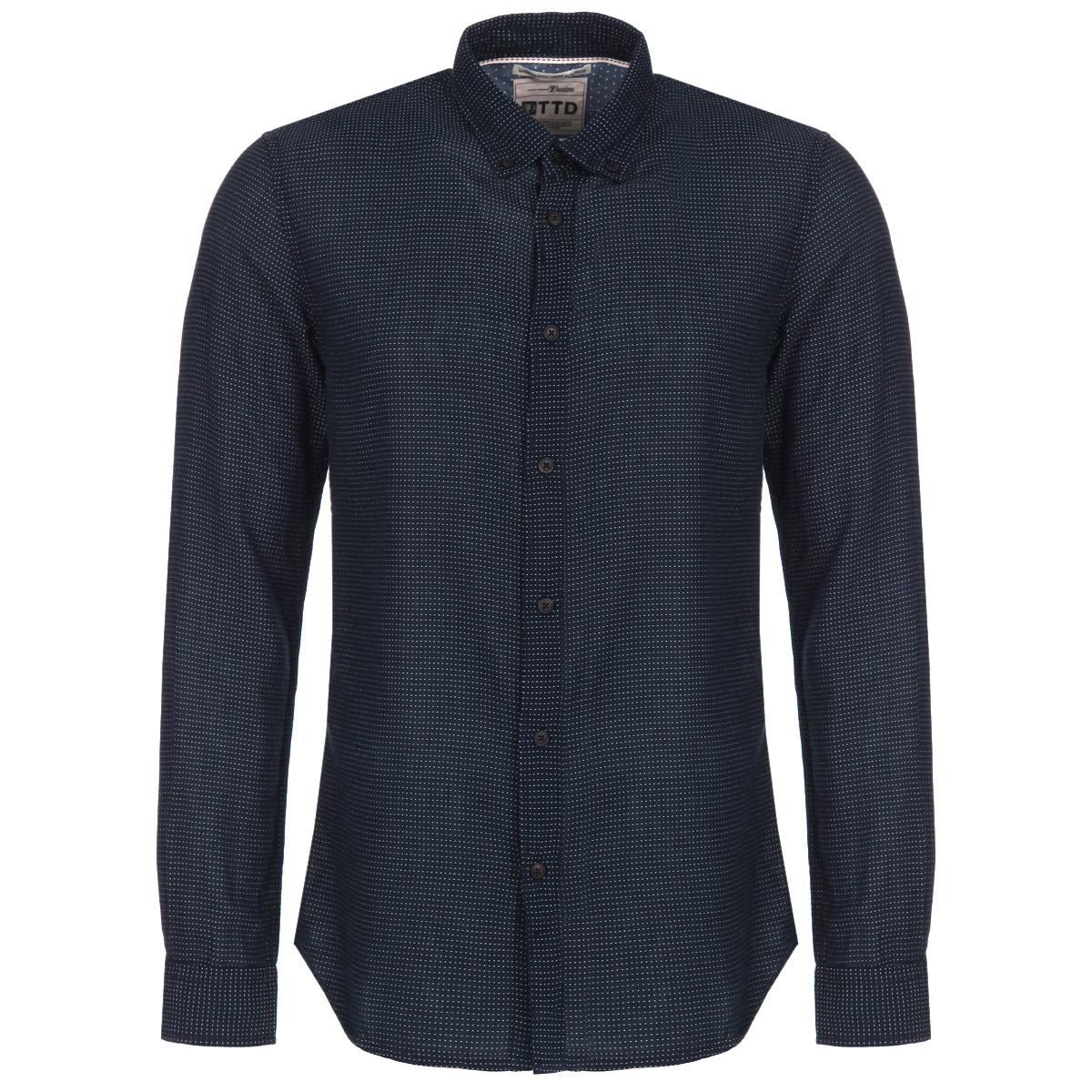 Рубашка2030223.00.12-6576_горохМужская рубашка Tom Tailor Denim, выполненная из высококачественного 100% хлопка, обладает высокой теплопроводностью, воздухопроницаемостью и гигроскопичностью, позволяет коже дышать, тем самым обеспечивая наибольший комфорт при носке. Модель классического кроя с отложным воротником и длинными рукавами застегивается на пуговицы. Рубашка оформлена вышивкой в мелкий горох. Такая рубашка подчеркнет ваш вкус и поможет создать великолепный стильный образ.