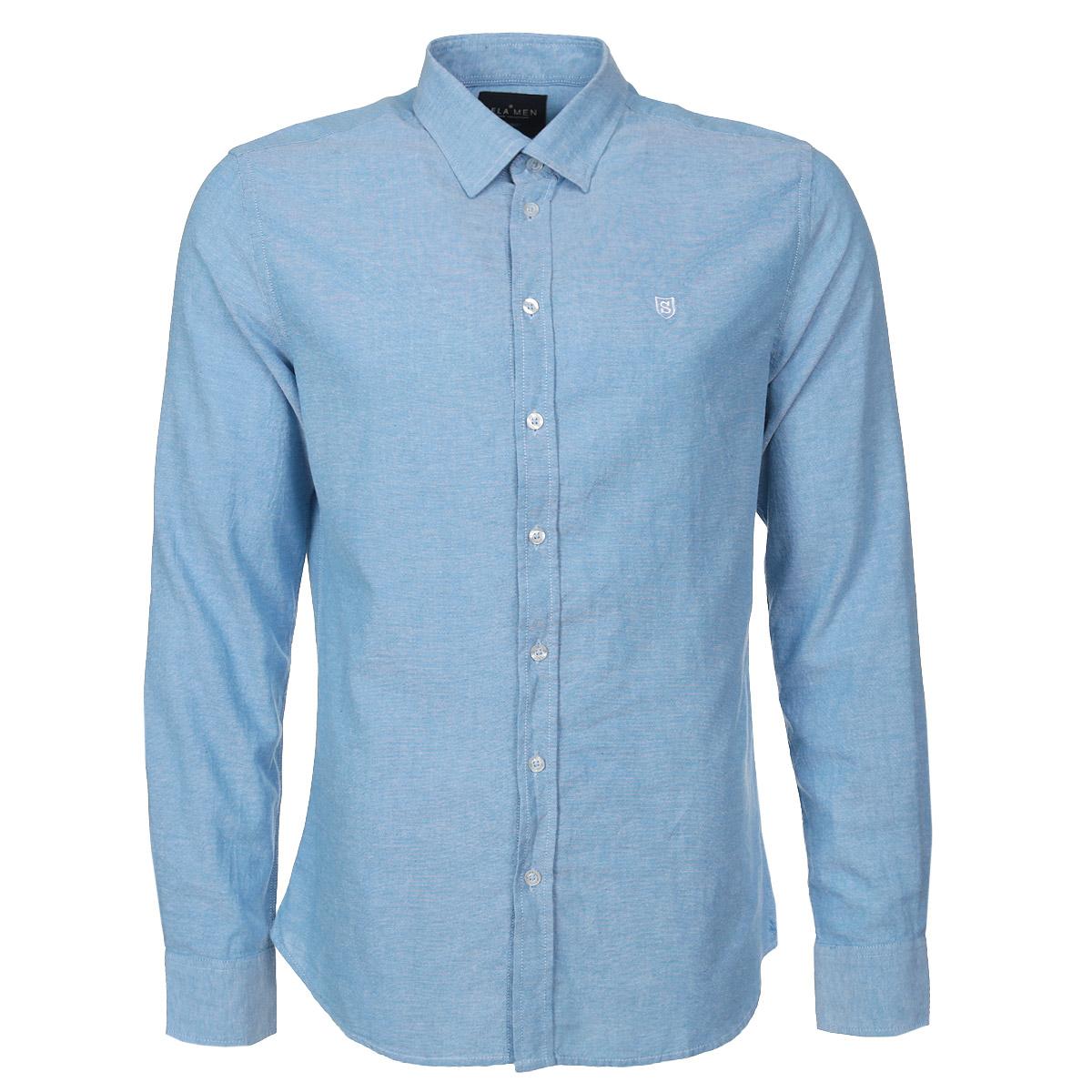 Рубашка мужская. H-212/211-5331H-212/211-5331Модная мужская рубашка Sela займет достойное место в вашем гардеробе. Модель выполнена из натурального хлопка, необычайно мягкого и приятного на ощупь, не сковывает движения и позволяет коже дышать. Рубашка прямого кроя, с отложным воротником, длинными рукавами и полукруглым низом застегивается на пуговицы по всей длине изделия. На груди модель оформлена небольшой вышивкой в виде буквы S. Широкие манжеты также застегиваются на пуговицы. В такой рубашке вам будет комфортно и уютно. Отличный выбор на каждый день!