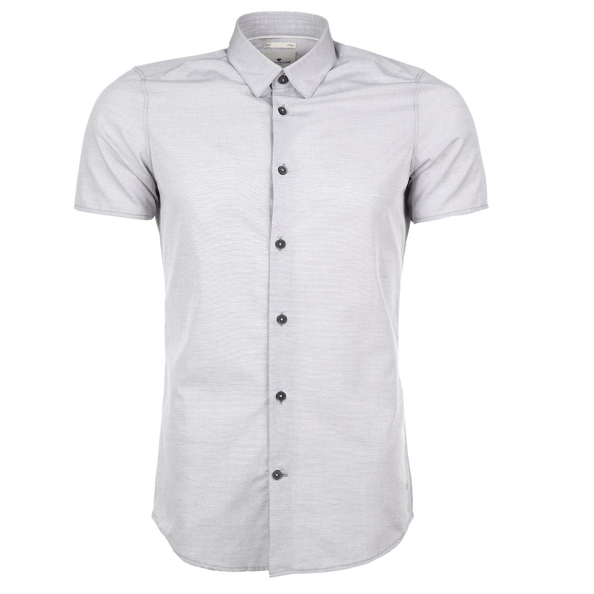 Рубашка мужская. 2029957.00.152029957.00.15_2624Стильная мужская рубашка Tom Tailor, изготовленная из высококачественного материала - хлопка с добавлением полиэстера, необычайно мягкая и приятная на ощупь, не сковывает движения и позволяет коже дышать, обеспечивая наибольший комфорт. Модная рубашка прямого кроя с короткими рукавами, полукруглым низом и отложным воротником застегивается на пуговицы. Эта рубашка идеальный вариант для повседневного гардероба. Такая модель порадует настоящих ценителей комфорта и практичности!