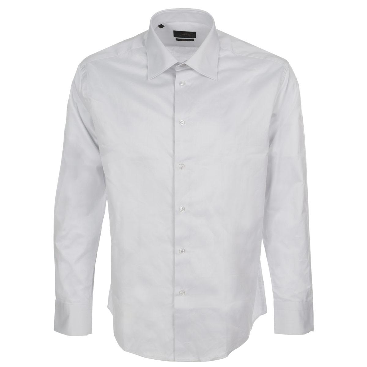 Рубашка мужская. 5700110857001108Стильная мужская рубашка Mondigo станет прекрасным дополнением к вашему гардеробу. Она выполнена из натурального хлопка, обладает высокой теплопроводностью, воздухопроницаемостью и гигроскопичностью, позволяет коже дышать, тем самым обеспечивая наибольший комфорт при носке даже жарким летом. Модель силуэта slim fit с длинными рукавами и отложным воротником застегивается на пуговицы. Рукава дополнены широкими манжетами со скошенными краями на пуговицах. Такая рубашка будет дарить вам комфорт в течение всего дня.