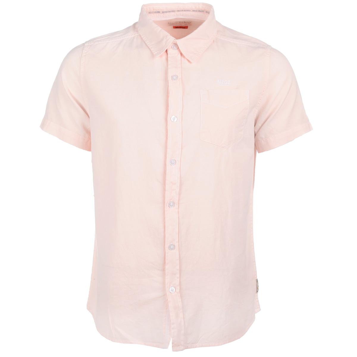 Рубашка мужская. CerseyCerseyFRESH/BUBBLEPINKСтильная мужская рубашка MeZaGuZ, изготовленная из высококачественного материала, необычайно мягкая и приятная на ощупь, не сковывает движения и позволяет коже дышать, не раздражает даже самую нежную и чувствительную кожу, обеспечивая наибольший комфорт. Модная рубашка прямого кроя, с короткими рукавами, отложным воротником и полукруглым низом застегивается на пуговицы. На груди изделие дополнено накладным карманом и оформлено вышитым названием бренда. Эта рубашка идеальный вариант для повседневного гардероба. Такая модель порадует настоящих ценителей комфорта и практичности!