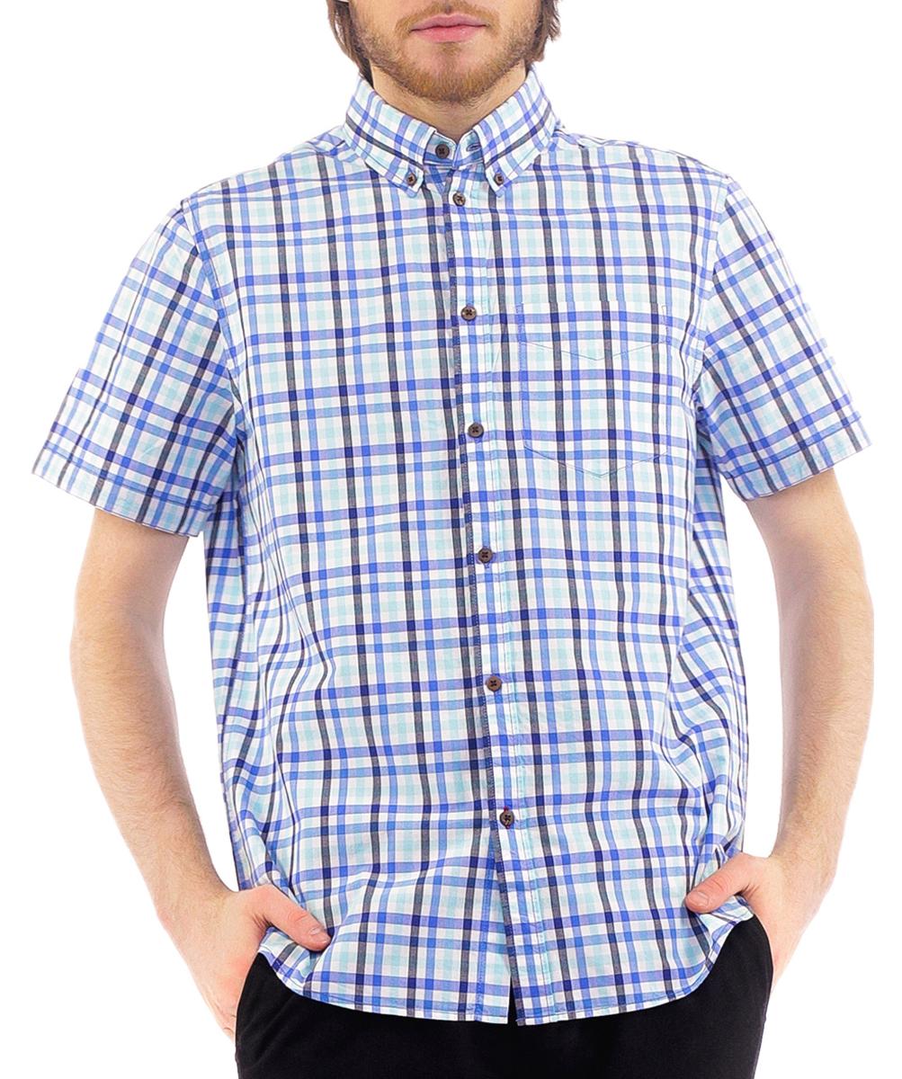 B685001Стильная мужская рубашка Baon, изготовленная из высококачественного материала, необычайно мягкая и приятная на ощупь, не сковывает движения и позволяет коже дышать, обеспечивая наибольший комфорт. Модная рубашка прямого кроя с короткими рукавами, отложным воротником и полукруглым низом. Застегивается изделие на пуговицы. На груди рубашка дополнена накладным карманом. Эта рубашка идеальный вариант для повседневного гардероба. Такая модель порадует настоящих ценителей комфорта и практичности!