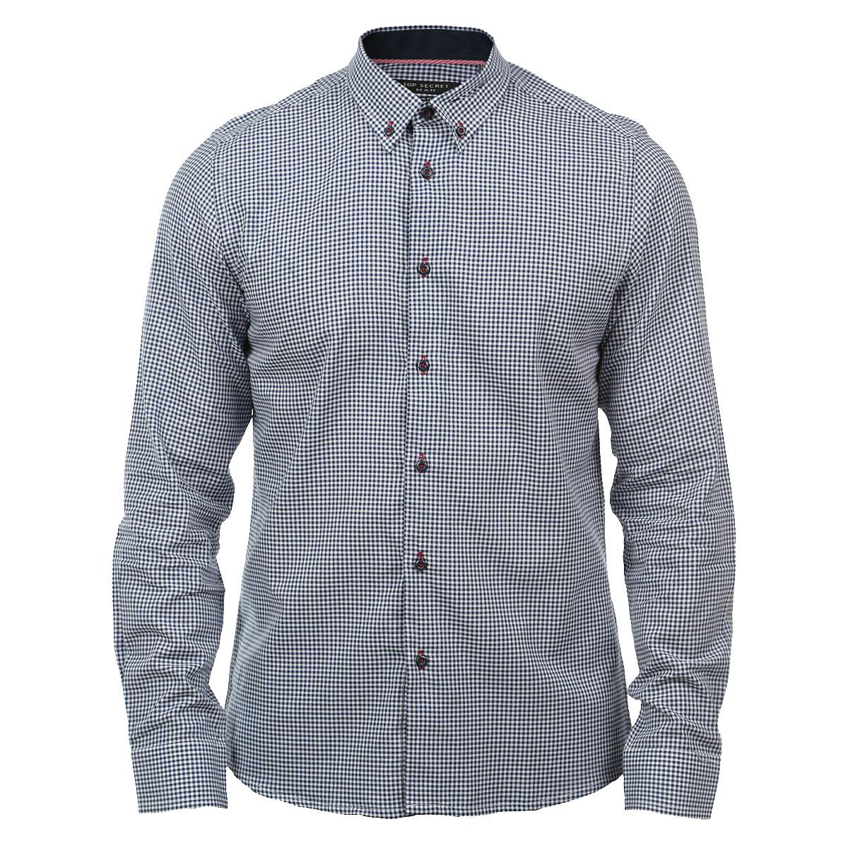 Рубашка мужская. SKL1677NISKL1677NIМужская рубашка Top Secret, выполненная из высококачественного хлопка, обладает высокой теплопроводностью, воздухопроницаемостью и гигроскопичностью, позволяет коже дышать, тем самым обеспечивая наибольший комфорт при носке. Рубашка прямого кроя с короткими рукавами и отложным воротником застегивается на пуговицы. Рубашка оформлена оригинальным принтом в мелкую клетку. Такая рубашка подчеркнет ваш вкус и поможет создать великолепный современный образ.