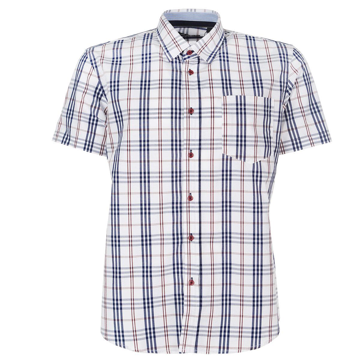 РубашкаSKS0866BIМужская рубашка Top Secret, выполненная из высококачественного хлопка, обладает высокой теплопроводностью, воздухопроницаемостью и гигроскопичностью, позволяет коже дышать, тем самым обеспечивая наибольший комфорт при носке. Рубашка прямого кроя с короткими рукавами и отложным воротником застегивается на пуговицы и дополнена нагрудным карманом. Рубашка оформлена стильным принтом в клетку. Такая рубашка подчеркнет ваш вкус и поможет создать великолепный современный образ в стиле Сasual.