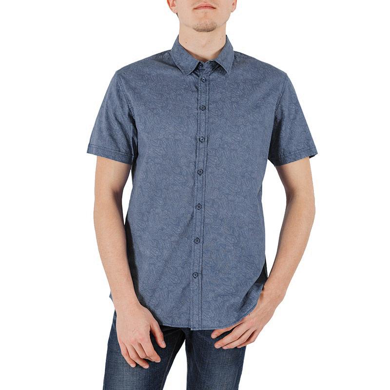 РубашкаHs-212/140-5244Стильная рубашка Sela с короткими рукавами, отложным воротником и застежкой на пуговицы. Модель оформлена оригинальным принтом. Рубашка, выполненная из хлопка, обладает высокой теплопроводностью, воздухопроницаемостью и гигроскопичностью, позволяет коже дышать, тем самым обеспечивая наибольший комфорт при носке даже самым жарким летом. Такая рубашка будет дарить вам комфорт в течение всего дня и послужит замечательным дополнением к вашему гардеробу.