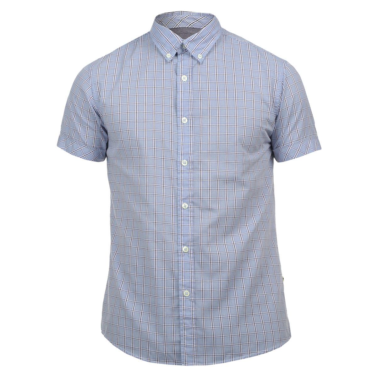 Рубашка10152307 51FСтильная мужская рубашка Broadway, изготовленная из высококачественного материала, необычайно мягкая и приятная на ощупь, не сковывает движения и позволяет коже дышать, обеспечивая наибольший комфорт. Модная рубашка прямого кроя с короткими рукавами, отложным воротником и полукруглым низом. Застегивается изделие на пуговицы. Эта рубашка идеальный вариант для повседневного гардероба. Такая модель порадует настоящих ценителей комфорта и практичности!