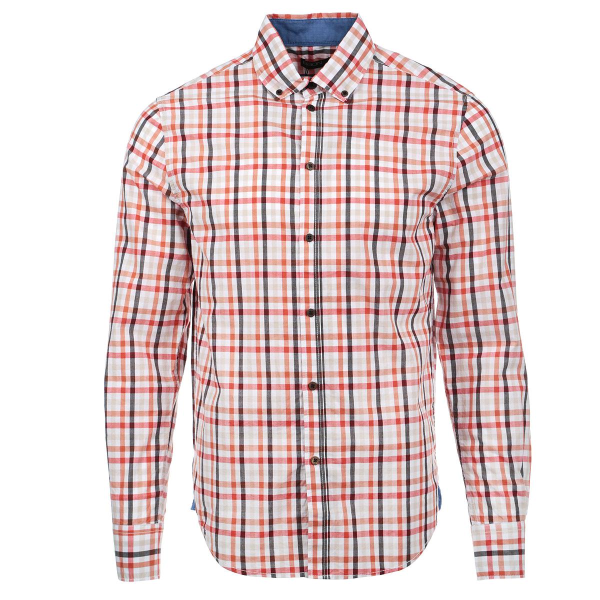 Рубашка мужская. B665001B665001Стильная мужская рубашка Baon, выполненная из высококачественного материала, обладает высокой теплопроводностью, воздухопроницаемостью и гигроскопичностью, позволяет коже дышать, тем самым обеспечивая наибольший комфорт при носке даже самым жарким летом. Рубашка прямого кроя с длинными рукавами, полукруглым низом, отложным воротником застегивается на пуговицы. Такая рубашка будет дарить вам комфорт в течение всего дня и послужит замечательным дополнением к вашему гардеробу.