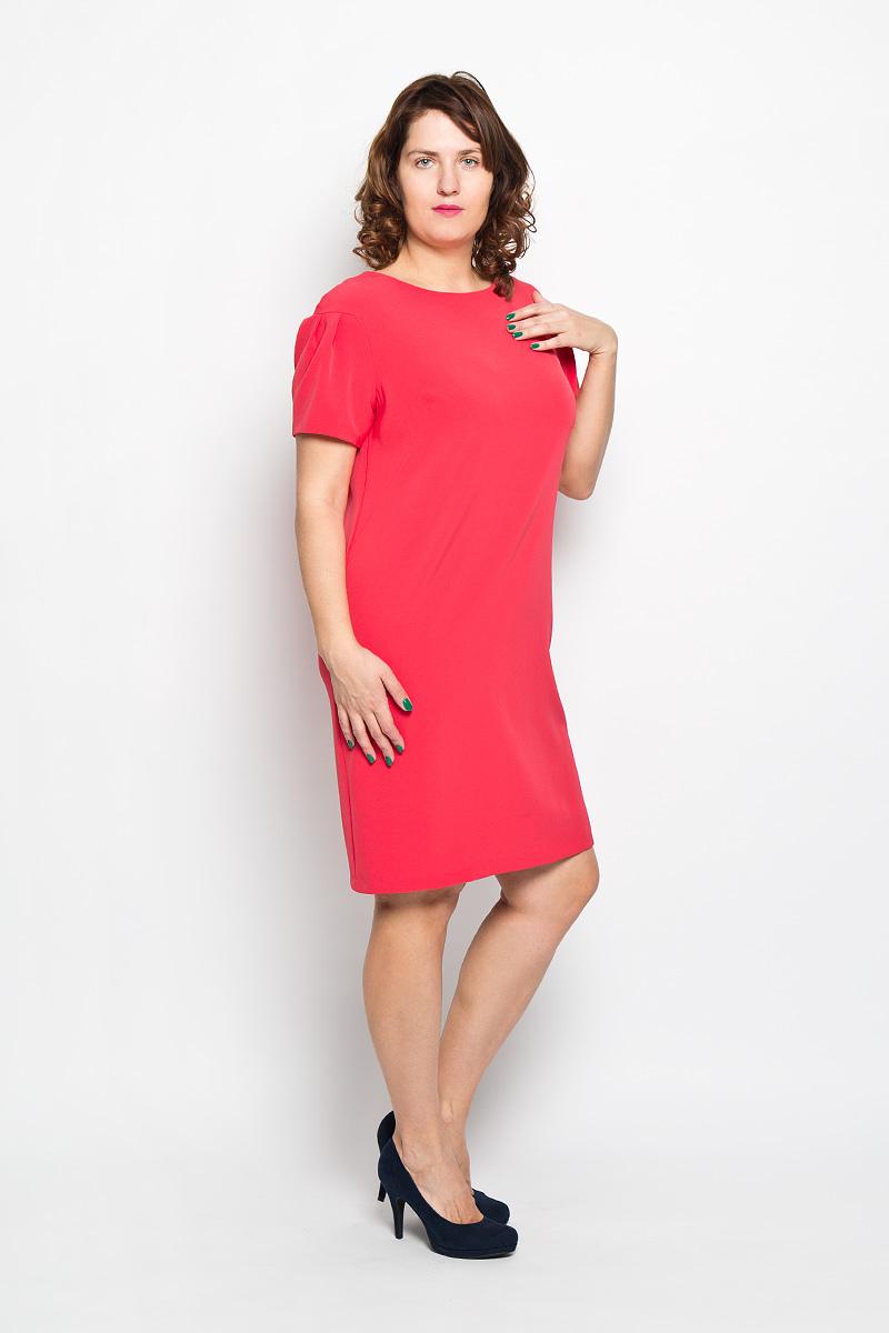Платье. 18111811Платье Milana Style поможет создать оригинальный женственный образ. Благодаря составу, в который входит ПАН и мягкая эластичная вискоза, платье очень приятное на ощупь, не сковывает движений, обеспечивая комфорт. Однотонная модель платья имеет круглый вырез горловины и короткие рукава-фонарики. Такое платье станет модным и стильным дополнением к вашему гардеробу!