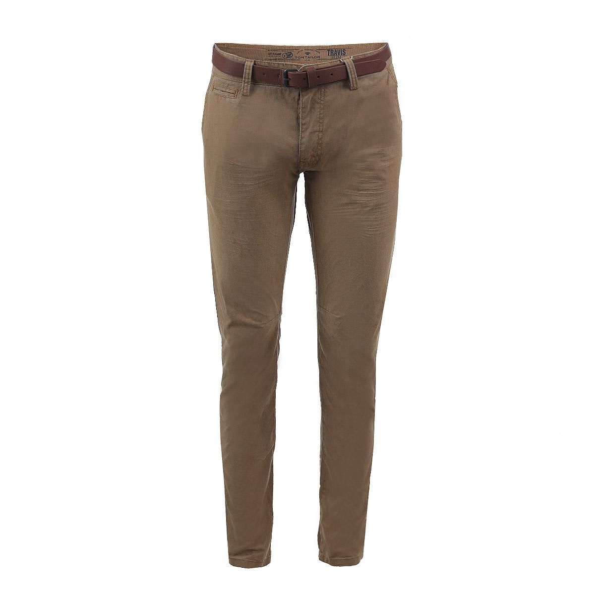 6403407.00.10Стильные мужские брюки Tom Tailor, выполненные из высококачественного материала, подходят большинству мужчин. Модель зауженного кроя и средней посадки станет отличным дополнением к вашему современному образу. Застегиваются брюки на пуговицу в поясе и ширинку на молнии, имеются шлевки для ремня и ремень из искусственной кожи в комплекте. Спереди модель оформлена двумя втачными карманами с косыми краями и небольшим секретным кармашком, а сзади - двумя втачными карманами с клапанами на пуговицах. Эти модные и в тоже время комфортные брюки послужат отличным дополнением к вашему гардеробу. В них вы всегда будете чувствовать себя уютно и комфортно.