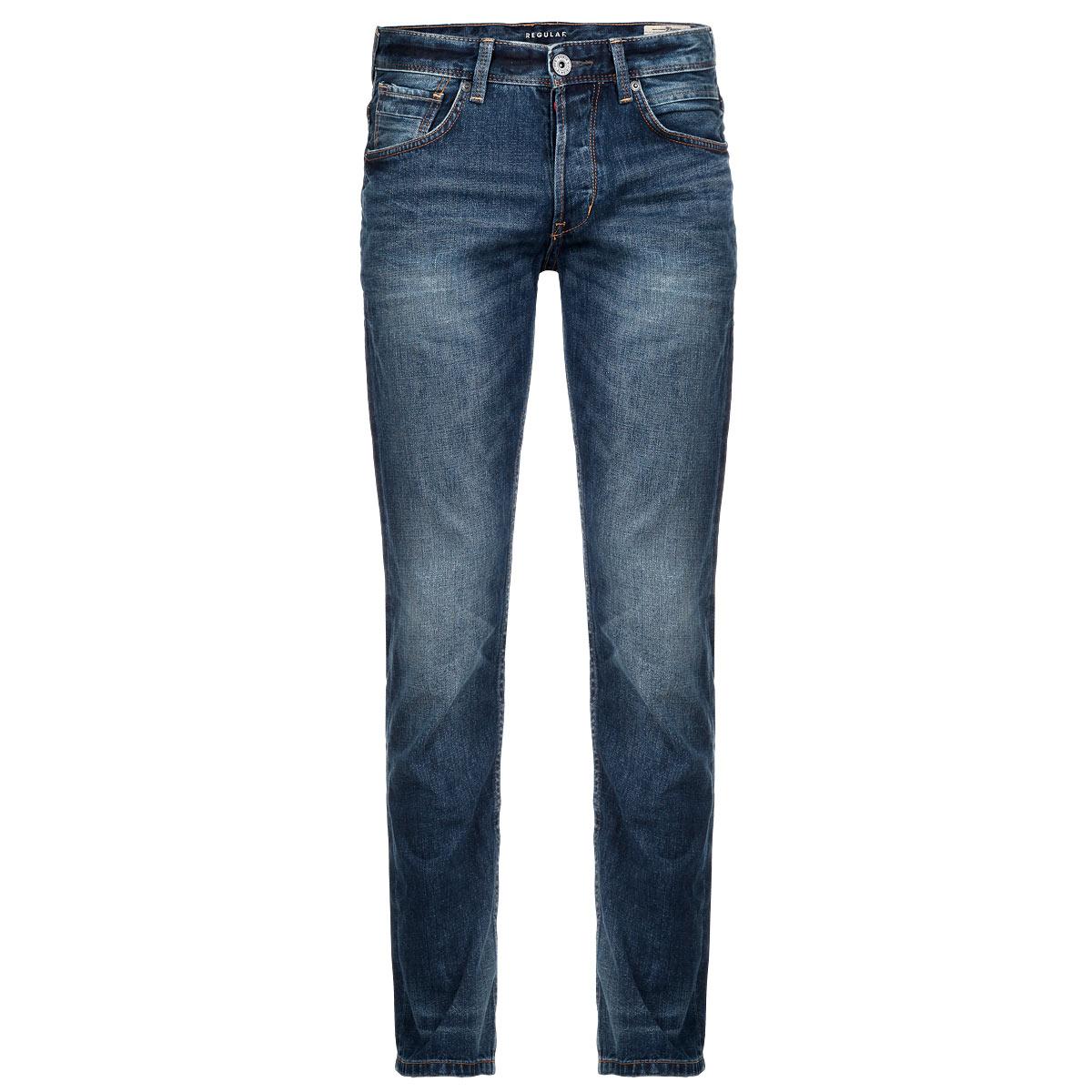 Джинсы мужские. 6203562.09.126203562.09.12Стильные мужские джинсы Tom Tailor Denim - джинсы высочайшего качества, которые прекрасно сидят. Они отлично сочетаются с разными рубашками и футболками, создавая образ, как на каждый день, так и для отдыха. Джинсы классической посадки изготовлены из высококачественного материала, не сковывают движения. Застегиваются джинсы на молнию и пуговицу, имеются шлевки для ремня. Джинсы имеют классический пятикарманный крой: спереди модель оформлены двумя втачными карманами и одним маленьким прорезным кармашком, а сзади - двумя накладными карманами. Эти модные и в тоже время удобные джинсы помогут вам создать оригинальный современный образ. В них вы всегда будете чувствовать себя уверенно и комфортно.