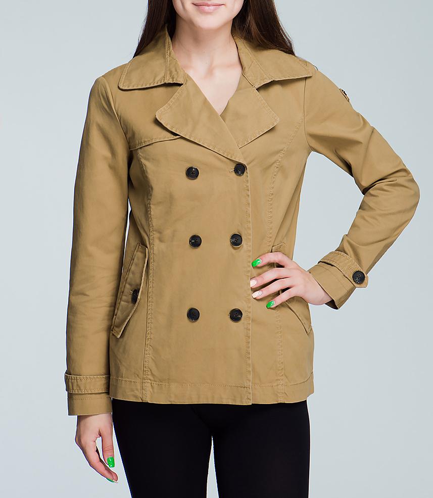 Куртка женская. 3521279.00.703521279.00.70_8229Стильная женская куртка SELA выполнена из высококачественного плотного материала и рассчитана на прохладную погоду. Она поможет вам почувствовать себя максимально комфортно и стильно. Модель с длинными рукавами застегивается на пуговицы. Куртка дополнена двумя втачными карманами. В этой куртке вам будет комфортно. Модная фактура ткани, отличное качество, великолепный дизайн.