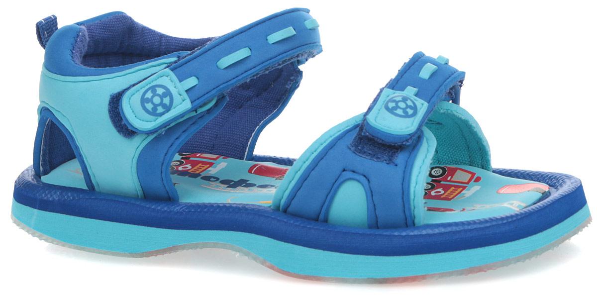 Сандалии для мальчика. 425001-11425001-11Туфли летние пляжные изготовлены из качественных синтетических материалов, обеспечивающих комфорт в использовании. Материал ЭВА, из которого изготовлены сандали, идеально подходит для тесного контакта с водой: легко моютс и быстро сохнут.Удобная эластичная подошва хорошо гнется, не стесняет движений стопы.
