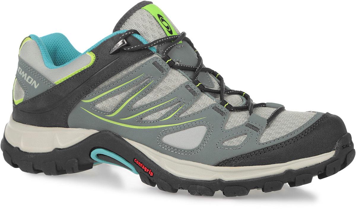 358883Легкие женские трекинговые кроссовки Ellipse Aero, созданные с учетом особенностей женской ноги, прекрасно подойдут для занятия спортом или активного отдыха и пеших прогулок. Верх модели выполнен на 77% из синтетических материалов и на 23% из текстиля. Подъем оформлен шнуровкой, благодаря которой обувь сидит плотно на ноге. Мягкая верхняя часть и подкладка, изготовленная из текстиля, обеспечивают дополнительный комфорт и предотвращают натирание. Стелька из ЭВА материала с текстильным верхним покрытием. Мыс оформлен дополнительной защитной накладкой. По бокам кроссовки декорированы оригинальным принтом, язычок дополнен текстильной нашивкой, задник - тиснением в виде символики бренда. Подошва Contagrip не оставляет следов и обеспечивает отличное сцепление со скользкой поверхностью. Такие кроссовки займут достойное место в коллекции вашей спортивной обуви.