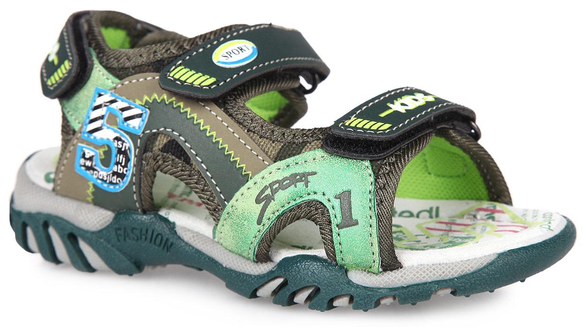Сандалии для мальчика. 992-652T-16s-01992-652T-16s-01-14Модные сандалии от Patrol не оставят равнодушным вашего мальчика! Модель, изготовленная из искусственной кожи и текстиля, оформлена декоративными нашивками. Ремешки с застежками-липучками прочно закрепят модель на ножке. Внутренняя поверхность из текстиля и стелька из натуральной кожи комфортны при ходьбе. Стелька дополнена супинатором, который обеспечивает правильное положение ноги ребенка при ходьбе. Подошва с рифлением обеспечивает отличное сцепление с поверхностью. Практичные и стильные сандалии займут достойное место в гардеробе вашего мальчика.
