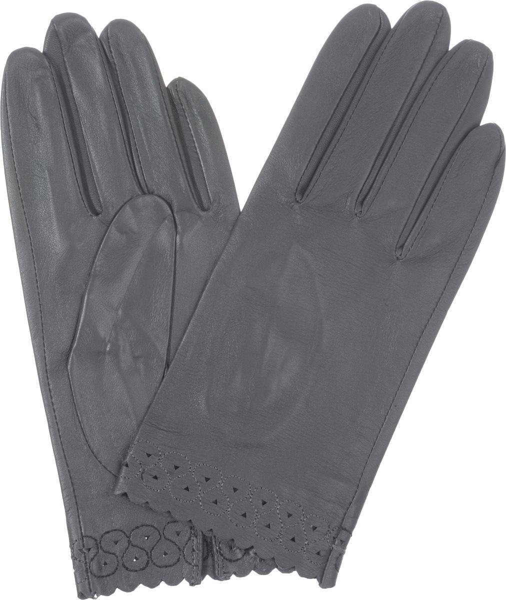 ПерчаткиIS807Стильные женские перчатки Eleganzza не только защитят ваши руки от холода, но и станут великолепным украшением. Они выполнены из мягкой и приятной на ощупь кожи ягненка. Манжеты декорированы перфорацией и декоративной строчкой. На ладонной стороне изделия имеется небольшой разрез. Такие перчатки станут идеальным аксессуаром, дополняющим ваш стиль и неповторимость.