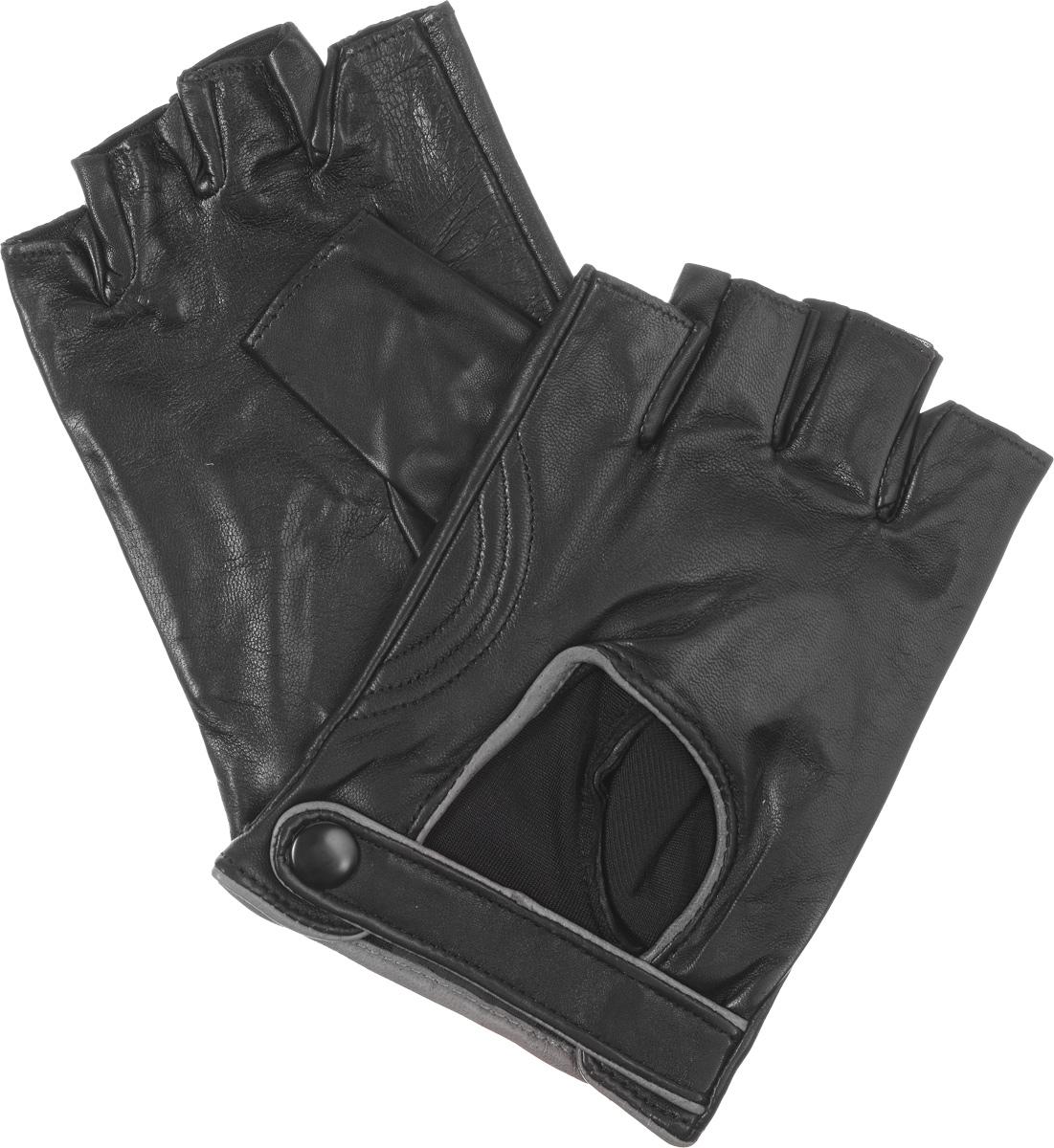 Митенки мужские. IS221MIS221MМитенки Eleganzza изготовлены из натуральной кожи ягненка. На лицевой стороне изделия - декоративный вырез с окантовкой из кожи контрастного цвета, ремешок с застежкой на металлическую кнопку. Подкладка из натурального шелка. В отличие от обычных кожаных перчаток, в них рука не теряет гибкости и подвижности, пальцы столь же чувствительны и точны, руку можно сжать в кулак беспрепятственно.