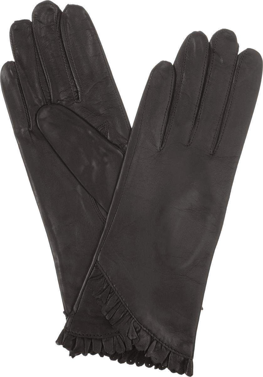 ПерчаткиIS803Стильные женские перчатки Eleganzza не только защитят ваши руки от холода, но и станут великолепным украшением. Они выполнены из мягкой и приятной на ощупь кожи, а их подкладка - из натурального шелка. Декорирована модель кожаной оборкой с перфорацией. Такие перчатки станут идеальным аксессуаром, дополняющим ваш стиль и неповторимость.