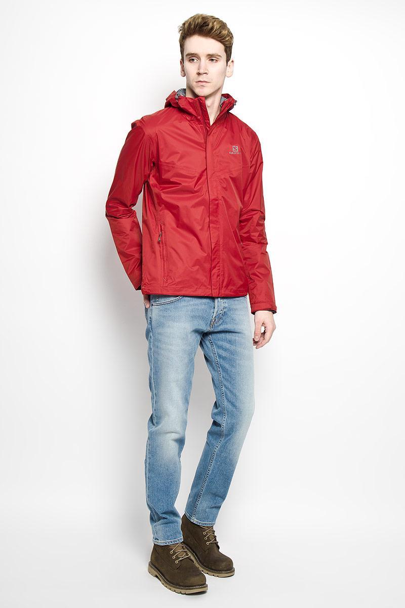 Куртка мужская Beauregard Jacket. L35938900L35938900Стильная мужская куртка Salomon Beauregard Jacket выполненная из нейлона отличный вариант для прохладной погоды. Водонепроницаемая и прочная модель, благодаря лицевой ткани рипстоп, обеспечивает повседневный комфорт и универсальность. Подкладка выполнена из полиэстера с вставками из сетчатой ткани. Модель с капюшоном застегивается на застежку-молнию и дополнительно ветрозащитным клапаном на липучки. Низ куртки и капюшон дополнены эластичной резинкой со стоперами. Рукав дополнен хлястиком с липучкой для регуляции ширины рукава по низу. Лицевая сторона куртки дополнена двумя карманами на застежках-молниях и термоаппликацией с изображением логотипа бренда. Идеальный вариант для тех, кто ценит комфорт и качество.
