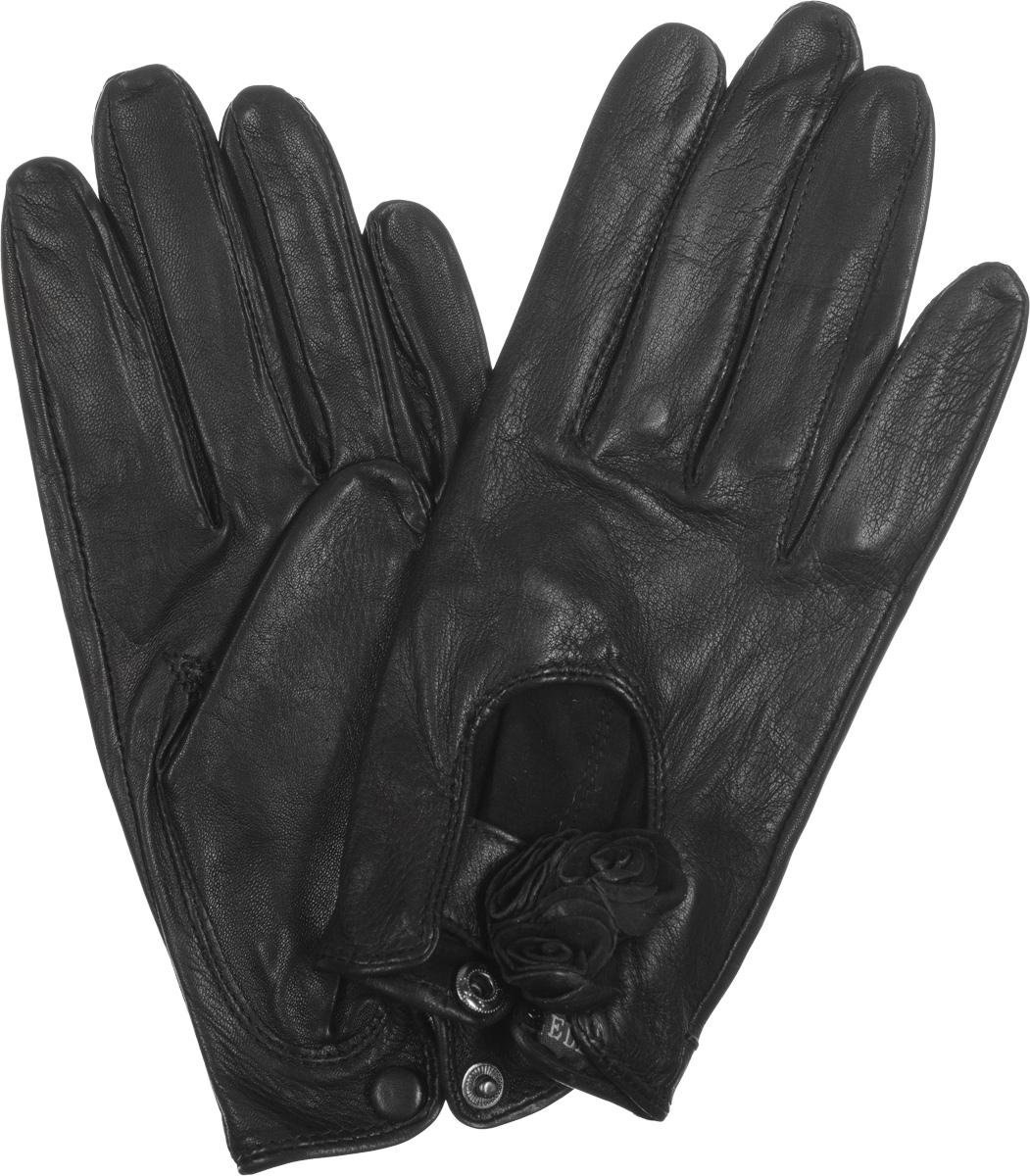 ПерчаткиHP02020Стильные женские перчатки Eleganzza выполнены из кожи ягненка с напылением, придающим мерцающий блеск. На лицевой стороне - вырез и декоративный ремешок с цветами из кожи. На внутренней стороне манжеты - разрез с металлической кнопкой, обтянутой кожей. Перчатки станут идеальным аксессуаром, дополняющим ваш стиль и неповторимость в современном мире моды.