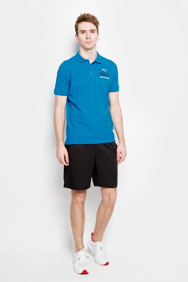 Футболка-поло мужская Style Athl. 83654983654912Стильная мужская футболка-поло Puma Style Athl, изготовленная из высококачественного натурального хлопка, обладает высокой теплопроводностью, воздухопроницаемостью и гигроскопичностью, позволяет коже дышать. Модель с короткими рукавами и отложным воротником - идеальный вариант для создания оригинального современного образа. Сверху футболка-поло застегивается на 3 пуговицы. Оформлена модель на груди и рукаве вышивкой. Такая футболка подарит вам комфорт в течение всего дня и послужит замечательным дополнением к вашему гардеробу.