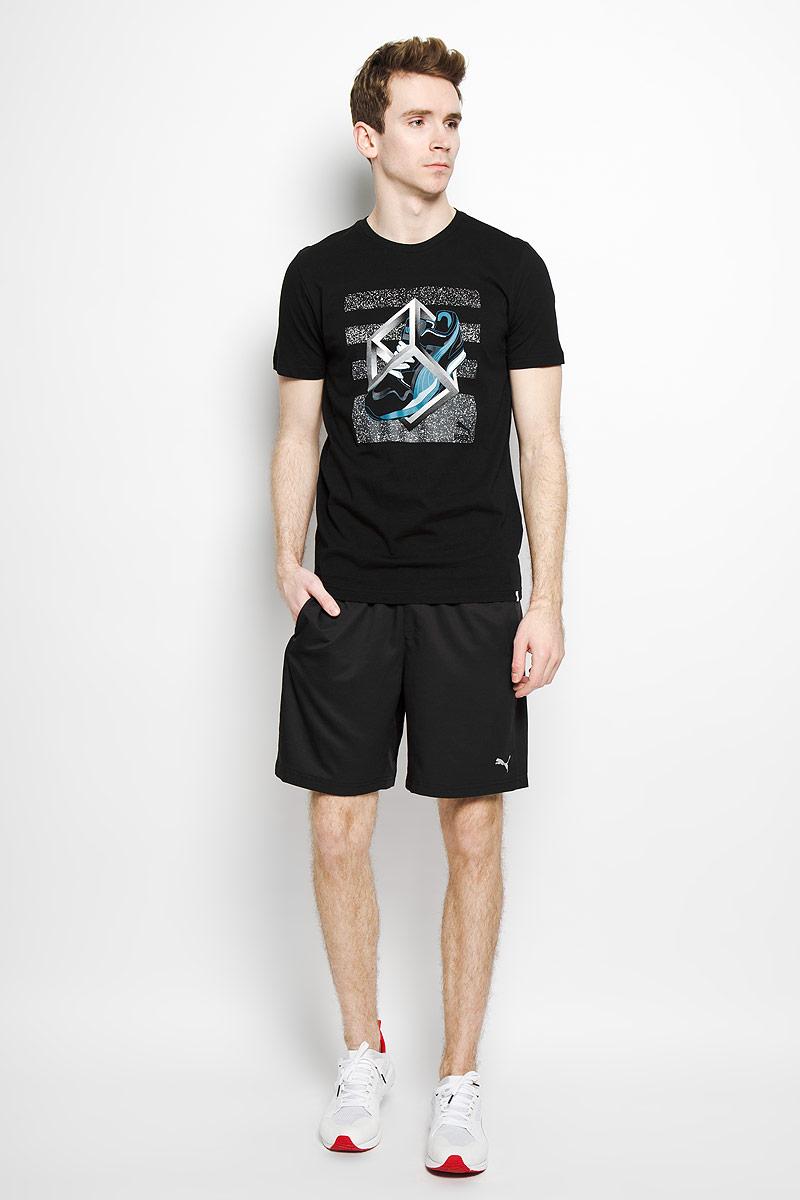 Футболка мужская Sneaker Tee 3. 5704080157040801Стильная мужская футболка Puma Sneaker Tee 3, выполненная из натурального хлопка, обладает высокой воздухопроницаемостью и гигроскопичностью, позволяет коже дышать. Такая футболка великолепно подойдет как для повседневной носки, так и для спортивных занятий. Модель с короткими рукавами и круглым вырезом горловины - идеальный вариант для создания современного образа в спортивном стиле. Футболка оформлена оригинальной термоаппликацией. Такая модель подарит вам комфорт в течение всего дня и послужит замечательным дополнением к вашему гардеробу.