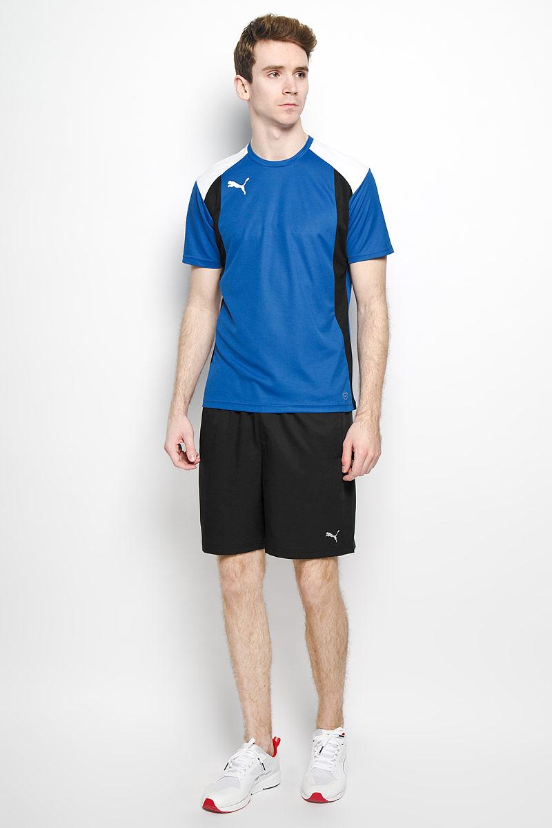 Футболка мужская BTS. 654741654741011Стильная мужская футболка Puma BTS, выполненная из высококачественного материала, превосходно подойдет для занятий спортом, бега и активного отдыха. Модель с короткими рукавами и круглым вырезом горловины спереди оформлена термоаппликацией в виде эмблемы бренда. Спинка дополнена перфорацией. Такая футболка подарит вам комфорт в течение всего дня и послужит замечательным дополнением к вашему гардеробу.