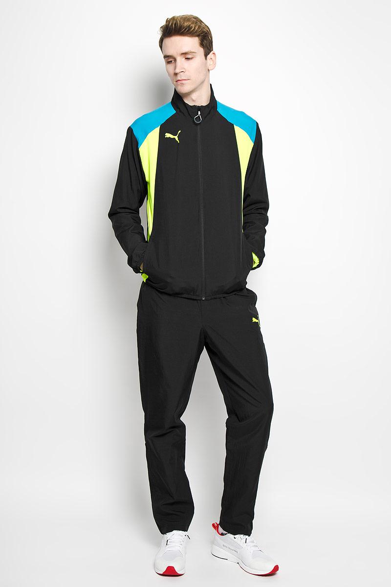 Спортивный костюм мужской BTS Woven Tracksuit. 654737654737031Мужской спортивный костюм Puma BTS Woven Tracksuit - это современный вариант классической куртки и брюк, изготовленных из функциональной ткани для динамичного комфорта и неизменного стиля. Подкладка изделия выполнена из полиэстера, нижняя часть - нейлон. Ветровка с воротником-стойкой и длинными втачными рукавами застегивается на застежку-молнию с защитой подбородка. По бокам толстовки расположены два втачных кармана. Манжеты рукавов и низ изделия дополнены эластичной резинкой. Брюки на поясе имеют широкую эластичную резинку, регулируемую шнурком. По бокам два втачных кармана. Низ брючин дополнен молниями, которые при необходимости можно расстегнуть. Такой костюм идеально подойдет для активного отдыха и занятий спортом, в нем вам будет удобно и комфортно!