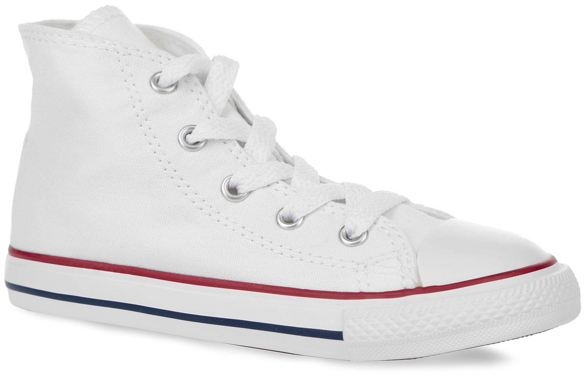 7J253SS16Высокие детские кеды INF Chuck Taylor All Star Hi от Converse придутся по душе вашему ребенку! Модель выполнена из текстиля и оформлена сбоку фирменной термоаппликацией, на мысе - прорезиненной накладкой, на подошве - контрастными полосками. Классическая шнуровка обеспечивает надежную фиксацию обуви на ноге. Стелька из материала EVA с текстильной поверхностью комфортна при движении. Резиновая рельефная подошва обеспечивает идеальное сцепление с различными поверхностями. Модные и практичные кеды - основа гардероба каждого ребенка.