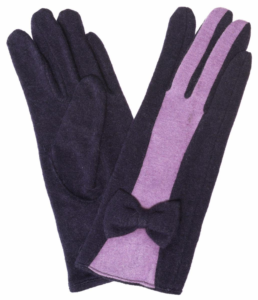 Перчатки женские. LB-PH-39LB-PH-39Элегантные женские перчатки Labbra станут великолепным дополнением вашего образа и защитят ваши руки от холода и ветра во время прогулок. Перчатки выполнены из плотного шерстяного трикотажа. Модель оформлена декоративным бантиком на манжете и контрастным переходом цветов на лицевой стороне модели. Такие перчатки будут оригинальным завершающим штрихом в создании современного модного образа, они подчеркнут ваш изысканный вкус и станут незаменимым и практичным аксессуаром.