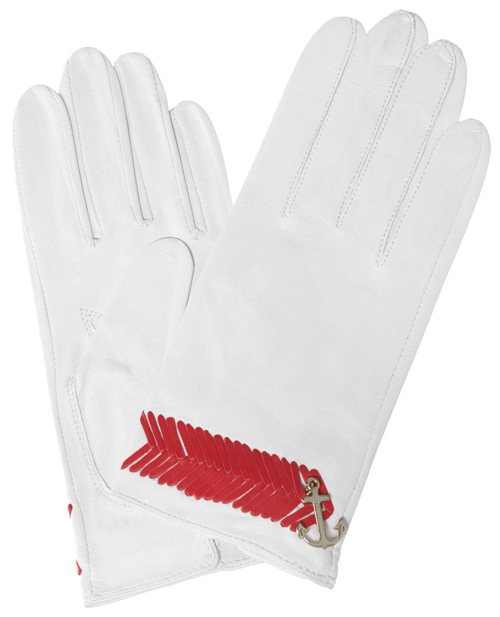 ПерчаткиHP290Стильные женские перчатки Eleganzza не только защитят ваши руки, но и станут великолепным украшением. Они выполнены из мягкой и приятной на ощупь кожи. Декорированы шнурочным плетением и подвеской в виде якоря. На внутренней стороне манжеты - небольшой разрез. Такие перчатки станут идеальным аксессуаром, дополняющим ваш стиль и неповторимость.