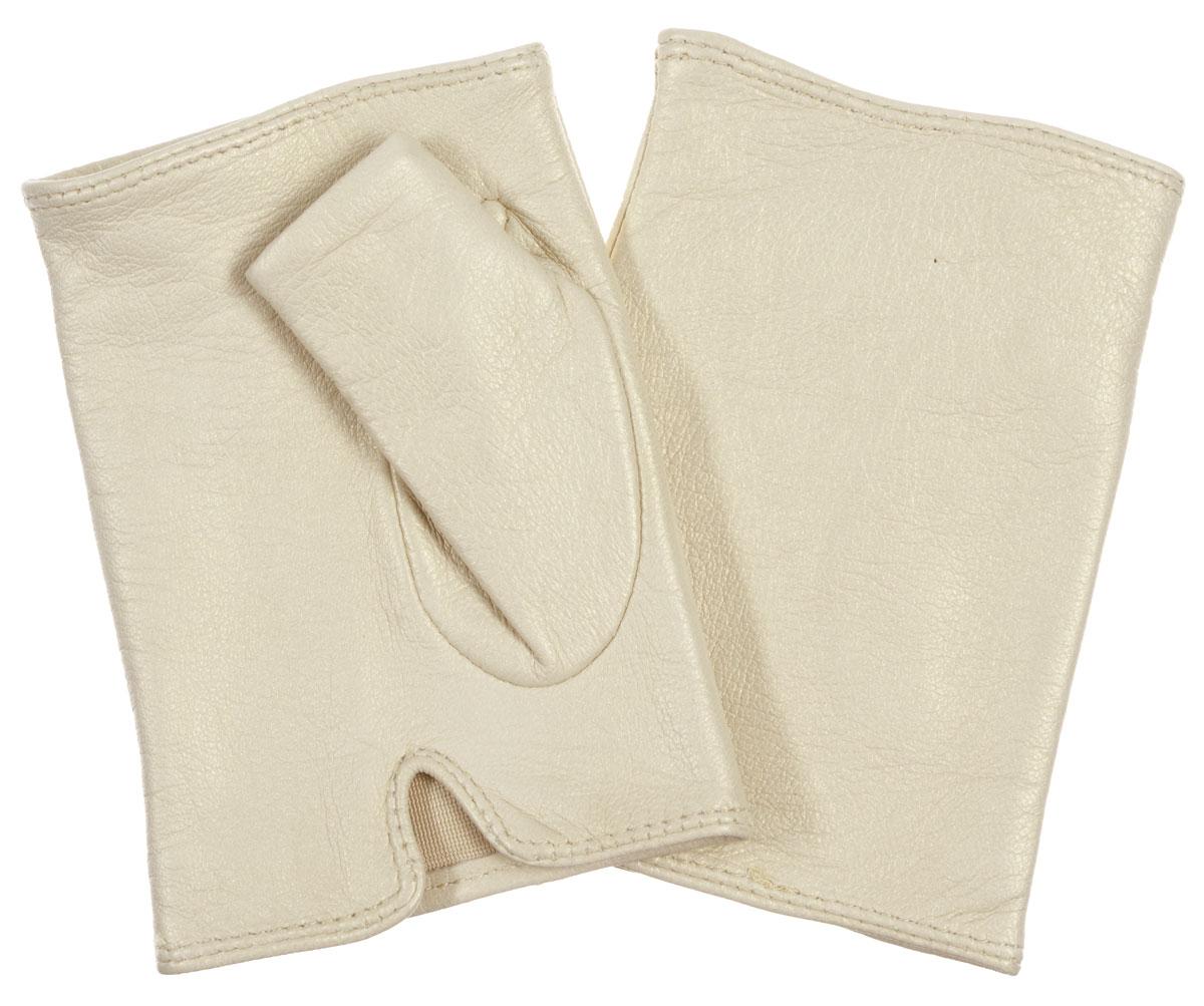 Митенки женские. 00320320Лаконичные митенки Eleganzza изготовлены из натуральной металлизированной кожи ягненка с перламутровым эффектом, подкладка - из шелка. На ладонной стороне изделия имеется небольшой разрез. Первоначально митенки использовались для защиты от холода при выполнении работ, требующих подвижности пальцев. Но начиная с XVIII века митенки стали использоваться как модный женский аксессуар, дамы носили митенки и в помещениях, соответственно митенки выполняли больше эстетическую, а не практическую функцию. Такая мода продержалась и в XIX веке. Использовались как простые вязаные митенки, так и кружевные, причем они могли по длине доходить как до середины руки, так и до локтя. В России митенки использовались еще в XIX веке и считались женскими перчатками. В настоящий момент митенки используются как женщинами, так и мужчинами, но все-таки в большей степени считаются женским аксессуаром одежды!