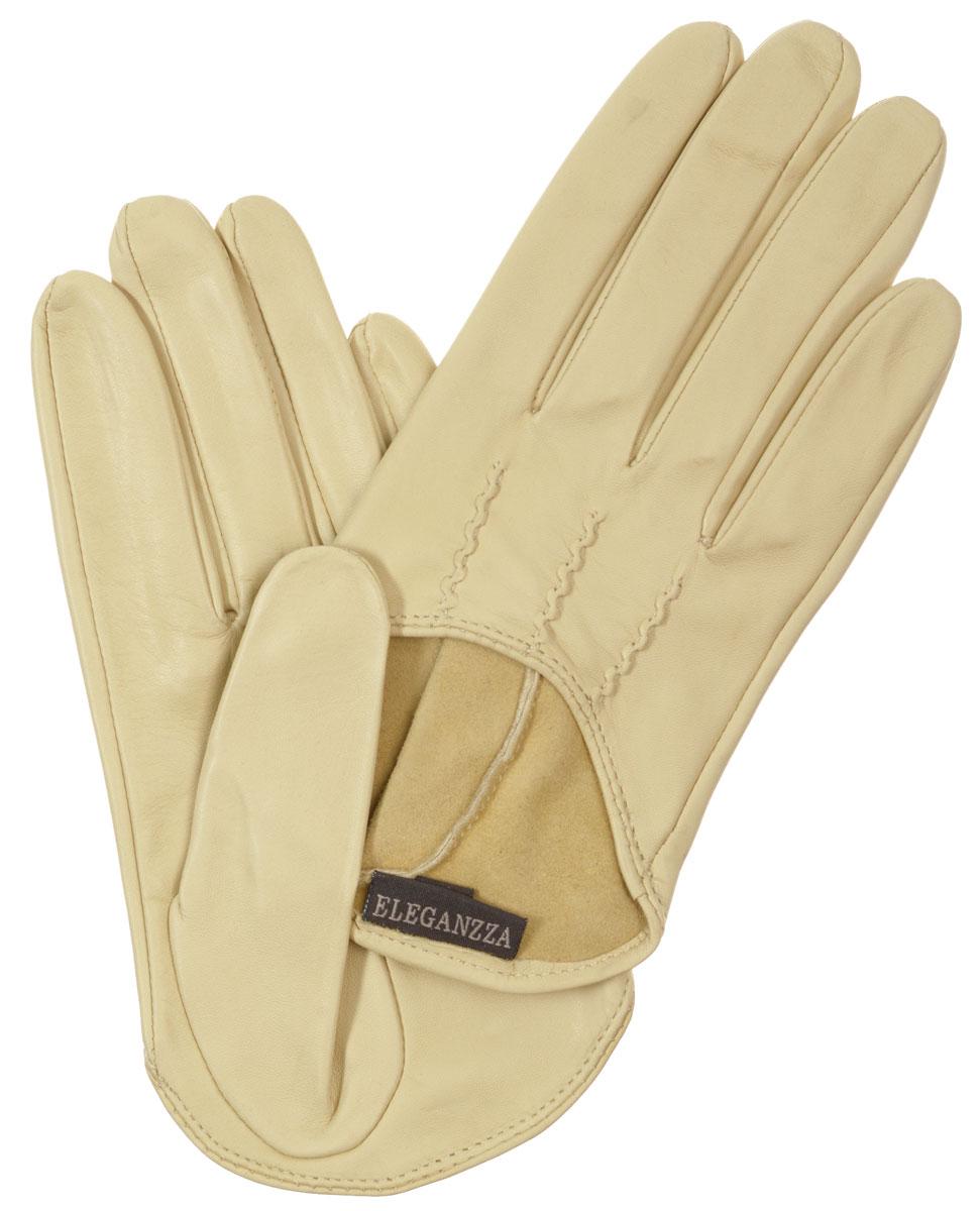 ПерчаткиIS02002Стильные женские перчатки Eleganzza не только защитят ваши руки, но и станут великолепным украшением. Они выполнены из мягкой и приятной на ощупь кожи. На внешней стороне - декоративный вырез и шов 3 луча. Такие перчатки станут идеальным аксессуаром, дополняющим ваш стиль и неповторимость.