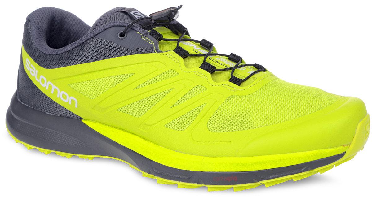 Кроссовки мужские для бега Sense Pro 2. 381561381561Мужские кроссовки Sense Pro 2 от Salomon - это легкие кроссовки для бега с минимально необходимой защитой, мягким приземлением и улучшенным перекатом. Верх модели выполнен из быстросохнущего сетчатого текстиля со вставками из синтетической кожи. Конструкция верха Sensifit обеспечивает точный и удобный охват стопы, отличную фиксацию и превосходную энергопередачу. Кроссовки оснащены системой быстрой шнуровки Quicklace, а также кармашком для шнурков. Стелька Ortholite с прослойкой ЭВА для амортизации и комфорта. Система шасси с защитной пластиной Profeel гарантирует максимальный комфорт и поддержку стопы. Не оставляющая следов подошва Wet Traction Contagrip со специальным рисунком протектора гарантирует надежное сцепление на любых поверхностях. Межподошва Energy Cell обеспечивает отличную амортизацию. В таких кроссовках вы почувствуете себе уверенней, быстрее!