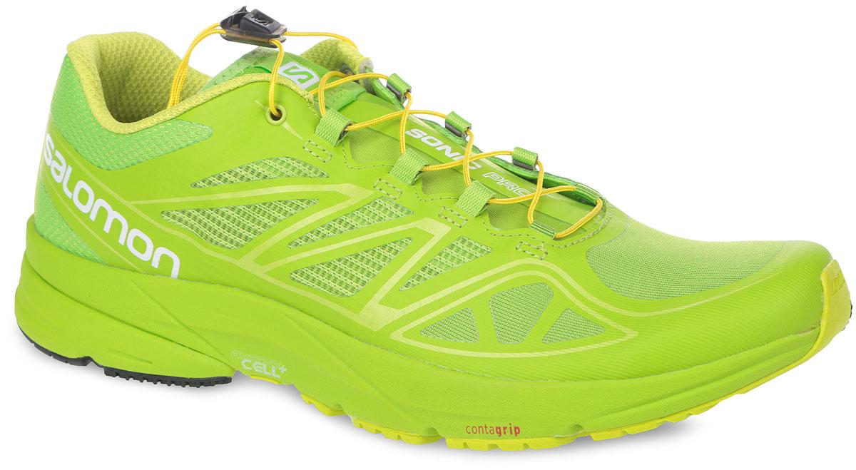 Кроссовки мужские для бега Sonic Pro. 378497378497Мужские кроссовки Sense Pro 2 от Salomon - это быстрые, подвижные и отлично сидящие кроссовки, которые помогут сохранить быстрый темп городской жизни. Верх модели выполнен из эластичного сетчатого текстиля 3D Stretch Air Mesh со вставками из синтетической кожи. Конструкция верха Sensifit обеспечивает точный и удобный охват стопы, отличную фиксацию и превосходную энергопередачу. Конструкция Endofit - внутренний охватывающий язычок, облегающий ногу в тех местах, где это нужно, и обеспечивающий точность посадки. Кроссовки оснащены системой быстрой шнуровки Quicklace, а также кармашком для шнурков. Стелька Ortholite с прослойкой ЭВА для амортизации и комфорта. Система шасси с защитной пластиной 3D Profeel гарантирует максимальный комфорт и поддержку стопы. Не оставляющая следов подошва Premium High Abrasion Contagrip со специальным рисунком протектора гарантирует надежное сцепление на любых поверхностях. Межподошва Energy Cell обеспечивает отличную амортизацию. В таких кроссовках вы...