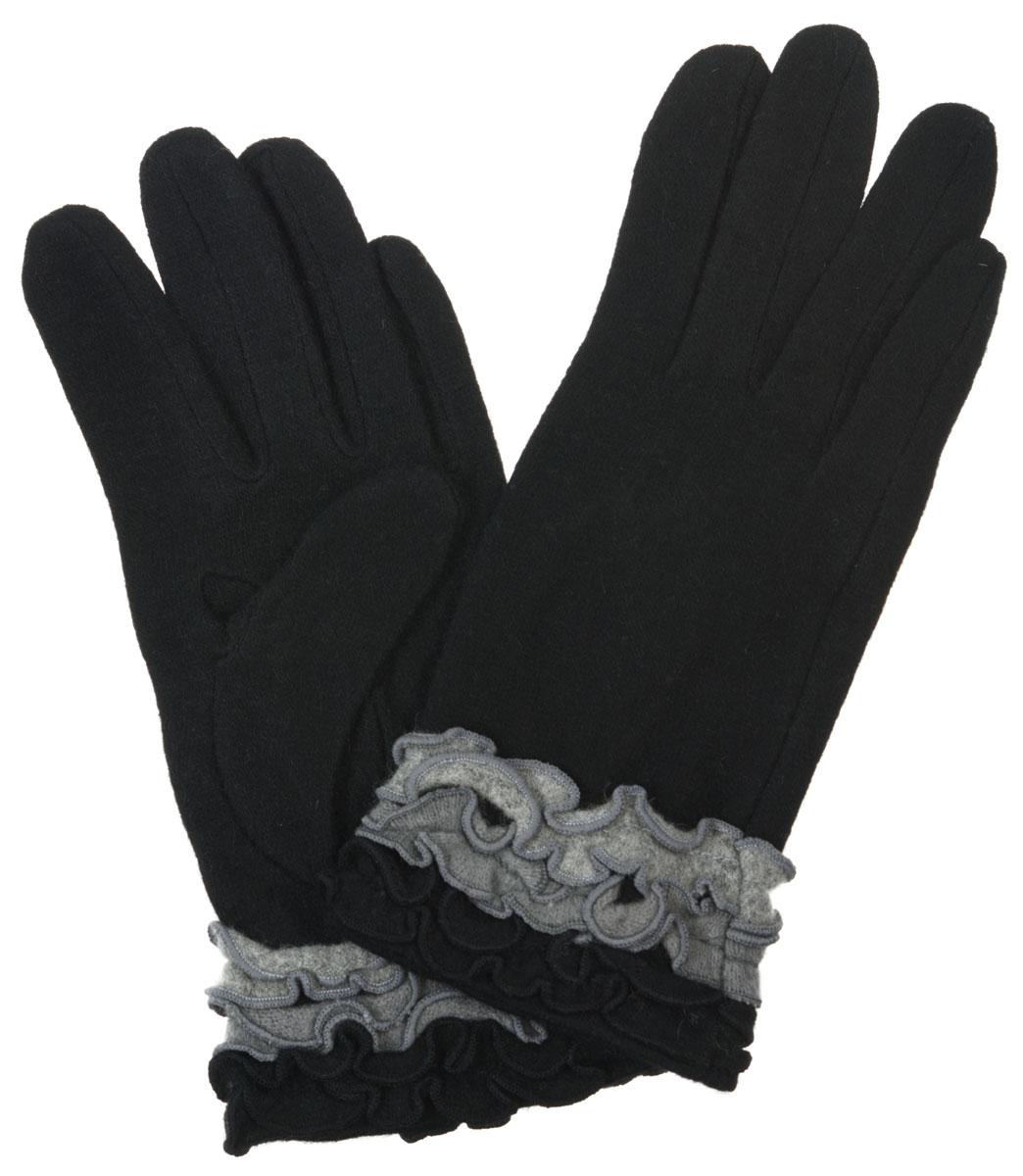 ПерчаткиLB-PH-36Элегантные женские перчатки Labbra станут великолепным дополнением вашего образа и защитят ваши руки от холода и ветра во время прогулок. Перчатки выполнены из плотного шерстяного трикотажа. Модель оформлена декоративным оборками. Такие перчатки будут оригинальным завершающим штрихом в создании современного модного образа, они подчеркнут ваш изысканный вкус и станут незаменимым и практичным аксессуаром.