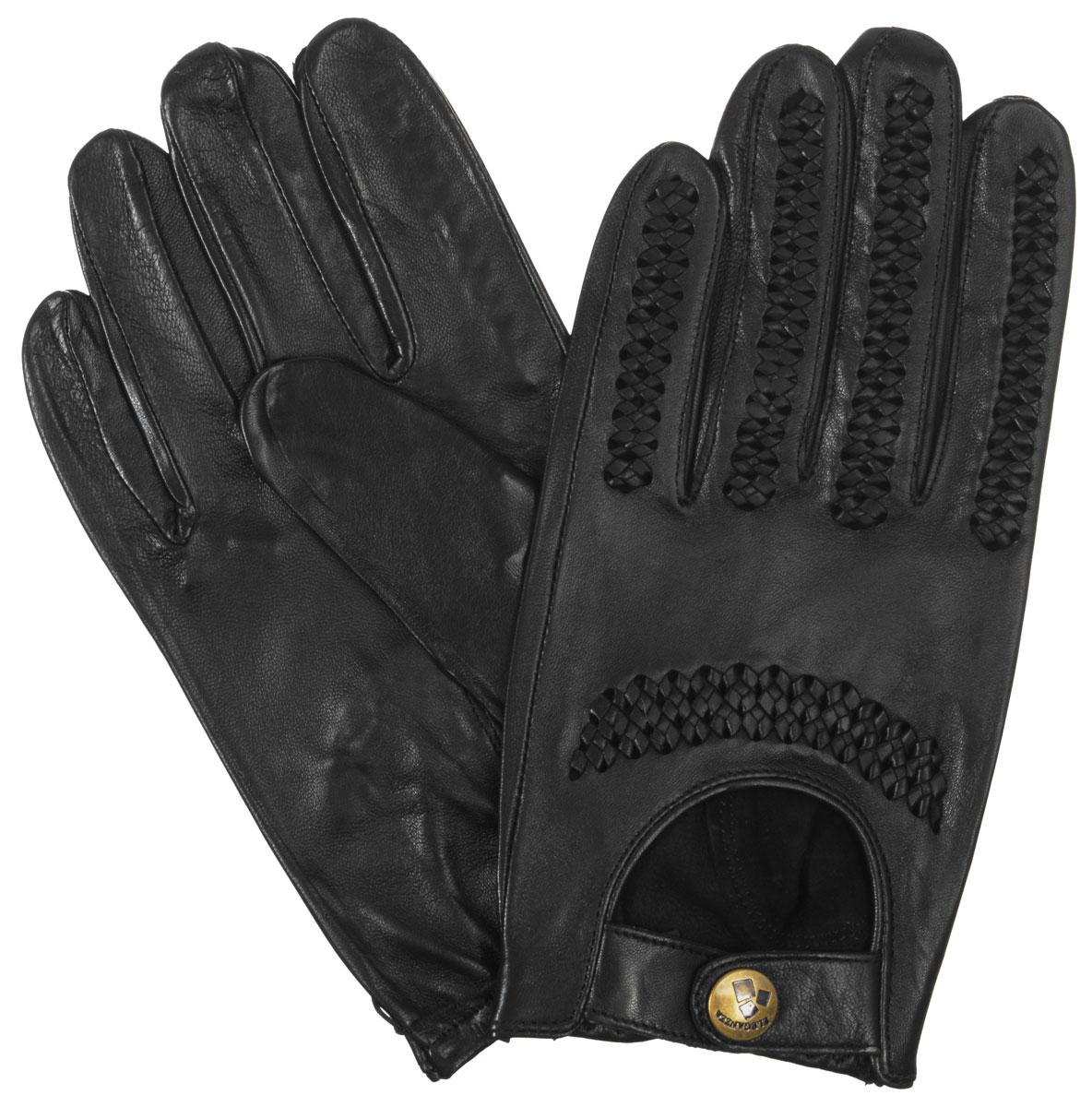 Перчатки мужские. HP080HP080Потрясающие мужские перчатки Eleganzza выполнены из чрезвычайно мягкой и приятной на ощупь кожи. Модель оформлена перфорацией. Лицевая сторона дополнена декоративными ремешками на застежке-кнопке. На ладонной стороне по низу манжеты - резинка. В настоящее время перчатки являются неотъемлемой принадлежностью одежды. Они станут завершающим и подчеркивающим элементом вашего стиля и неповторимости.